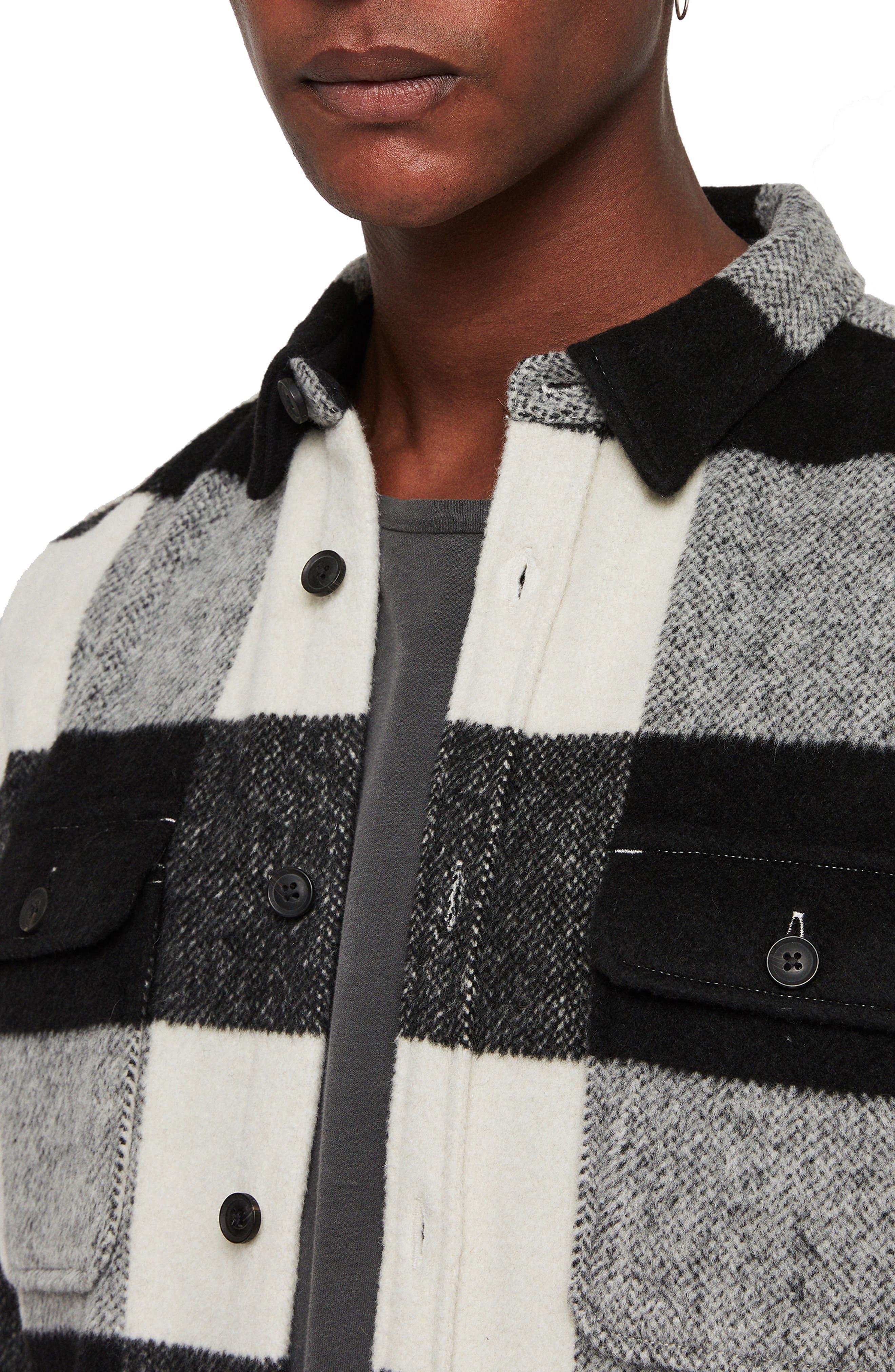 Laona Regular Fit Check Flannel Sport Shirt,                             Alternate thumbnail 2, color,                             ECRU/ BLACK