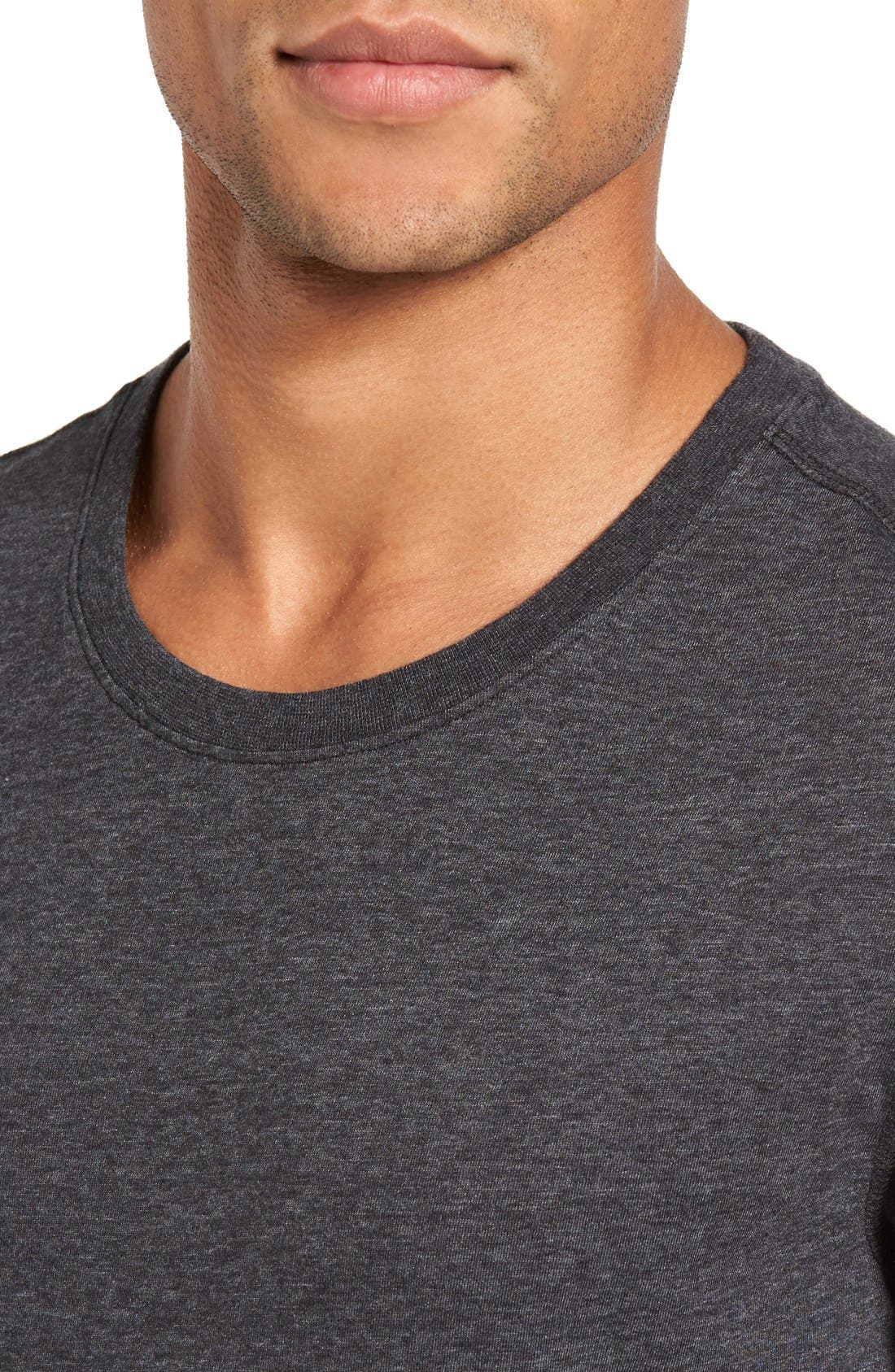 Recycled Cotton Blend T-Shirt,                             Alternate thumbnail 4, color,                             001