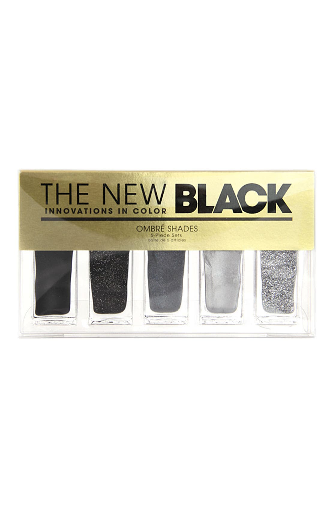 THE NEW BLACK,                             'Graffiti - Ombré' Nail Polish 5-Piece Set,                             Alternate thumbnail 2, color,                             000