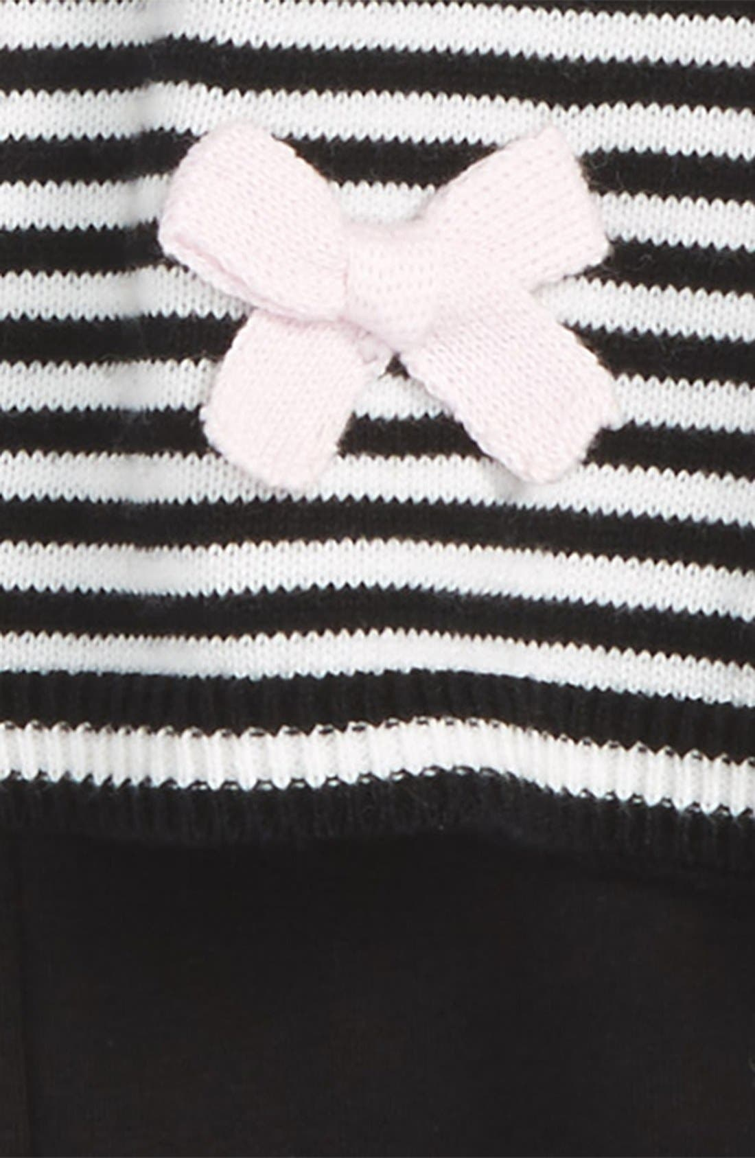 'greta' stripe sweater & leggings set,                             Alternate thumbnail 2, color,                             001