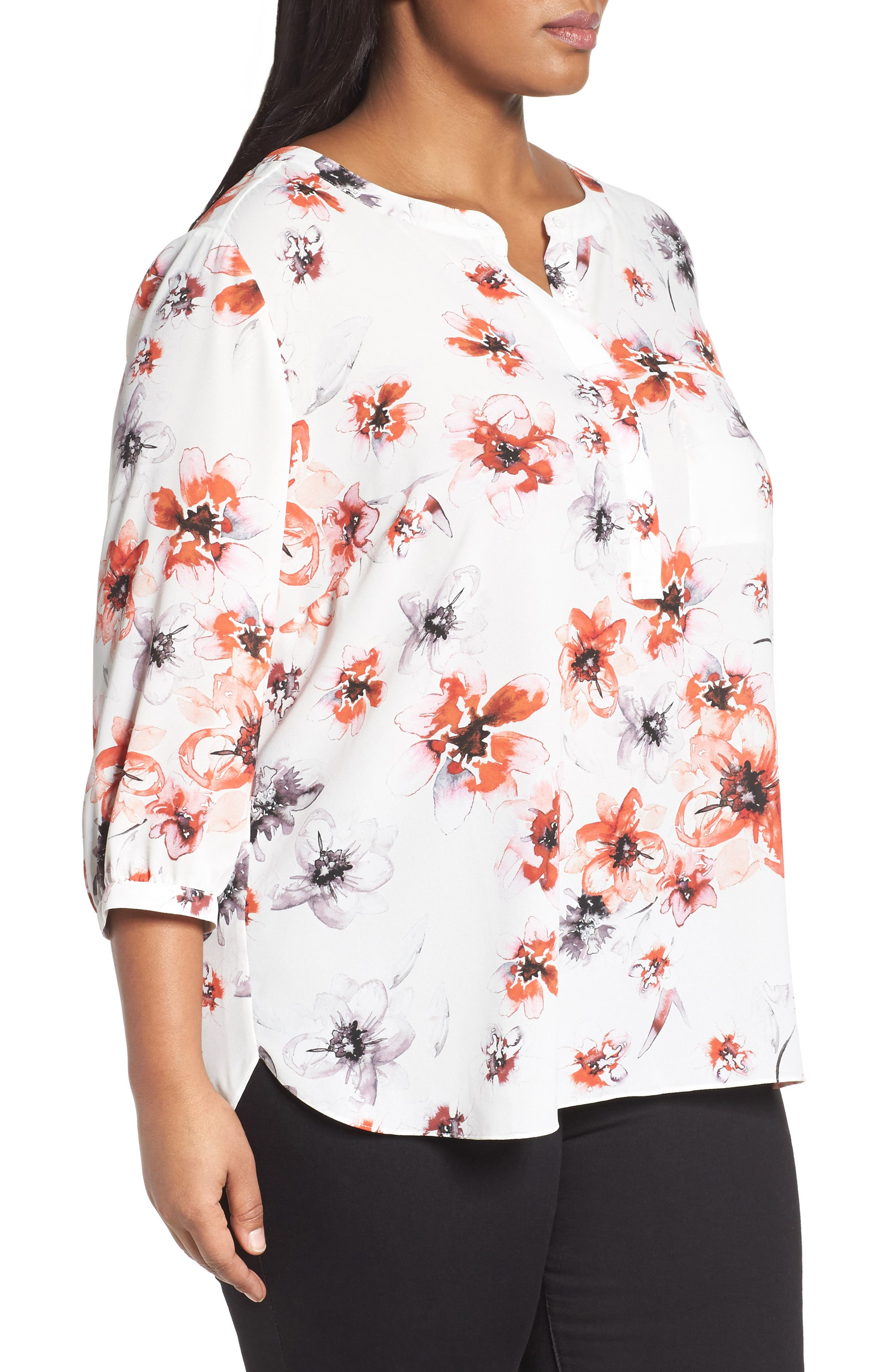 Henley Top,                             Alternate thumbnail 319, color,