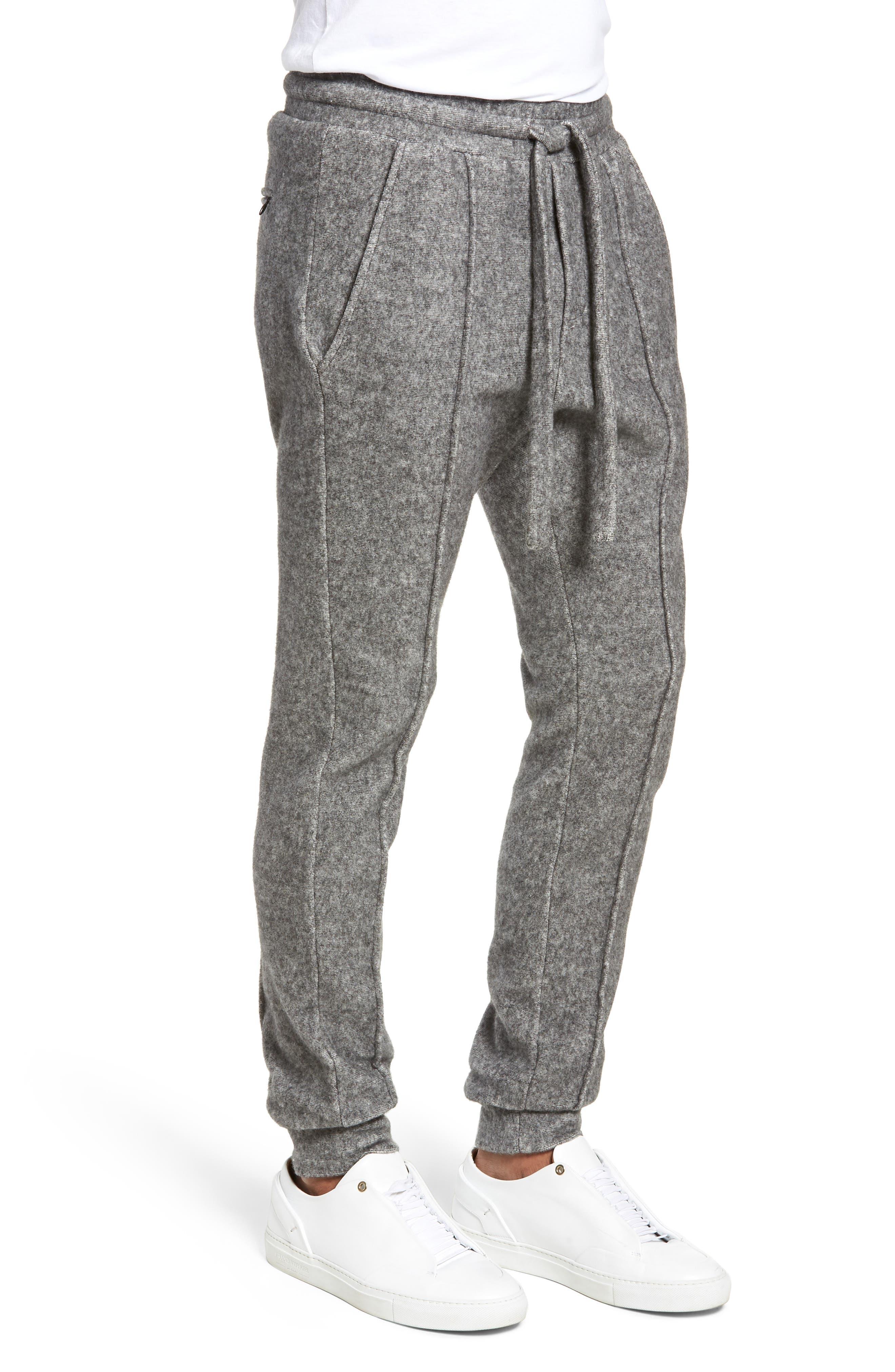 Maddux Slim Fit Jogger Pants,                             Alternate thumbnail 3, color,                             HEATHER GREY