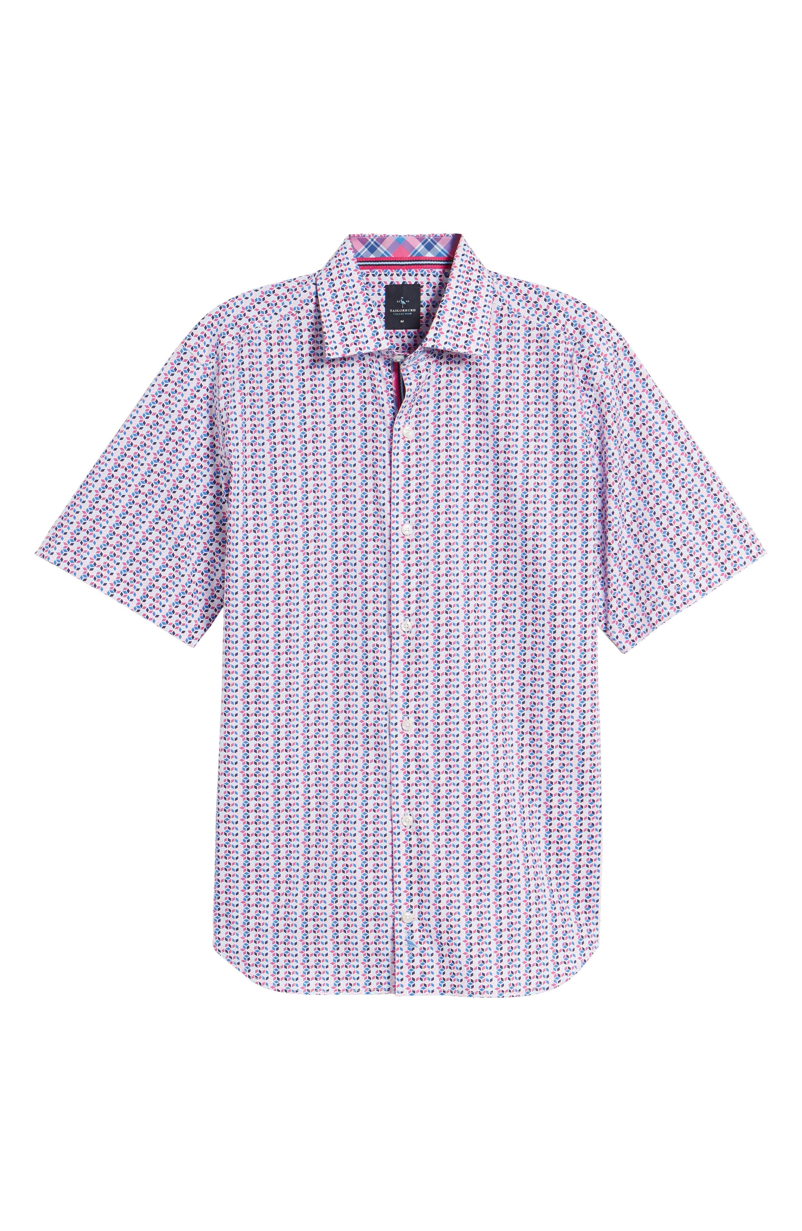 Slater Regular Fit Print Sport Shirt,                             Alternate thumbnail 6, color,                             650