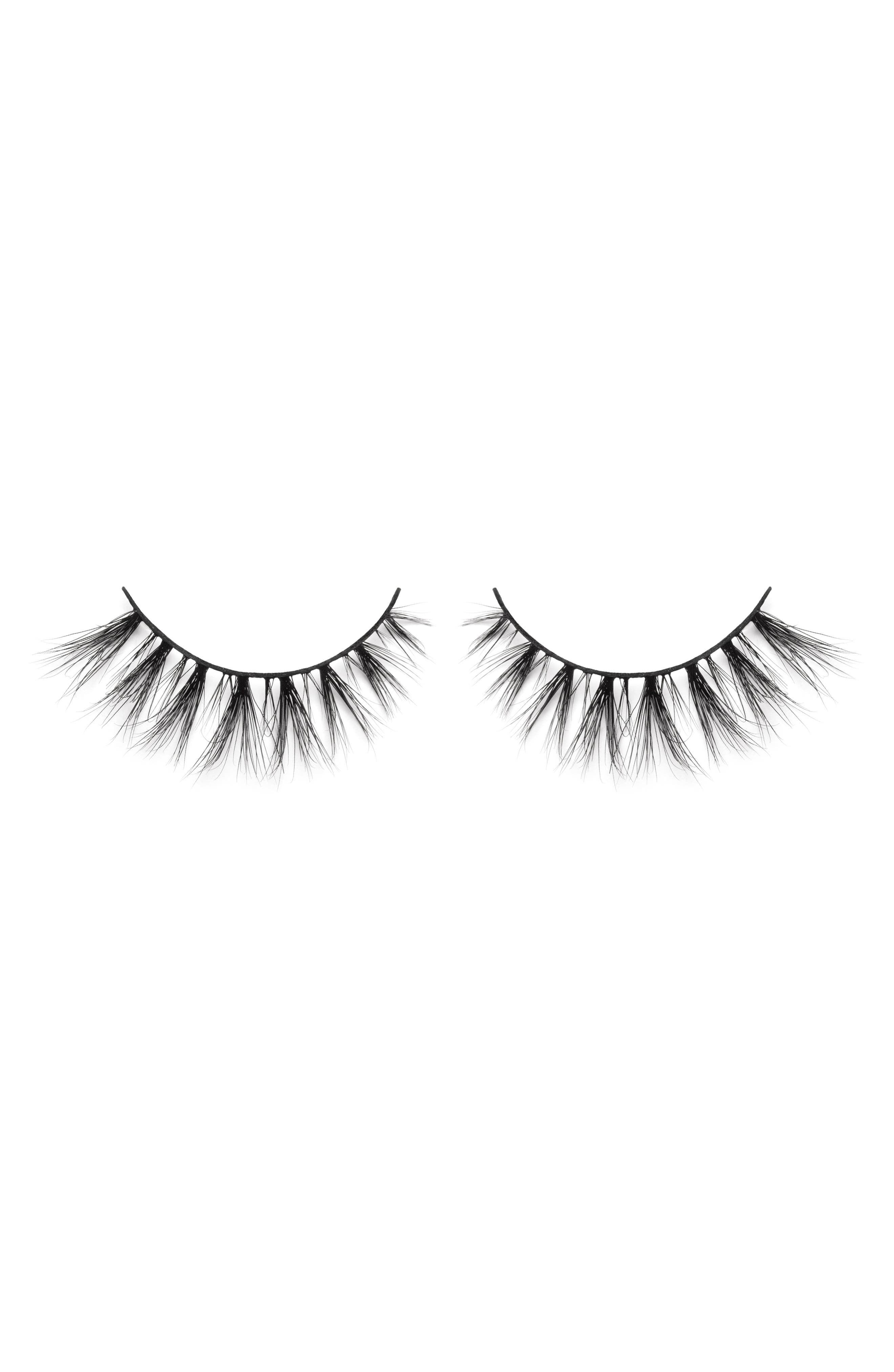 LILLY LASHES,                             Cannes 3D Mink False Lashes,                             Main thumbnail 1, color,                             000