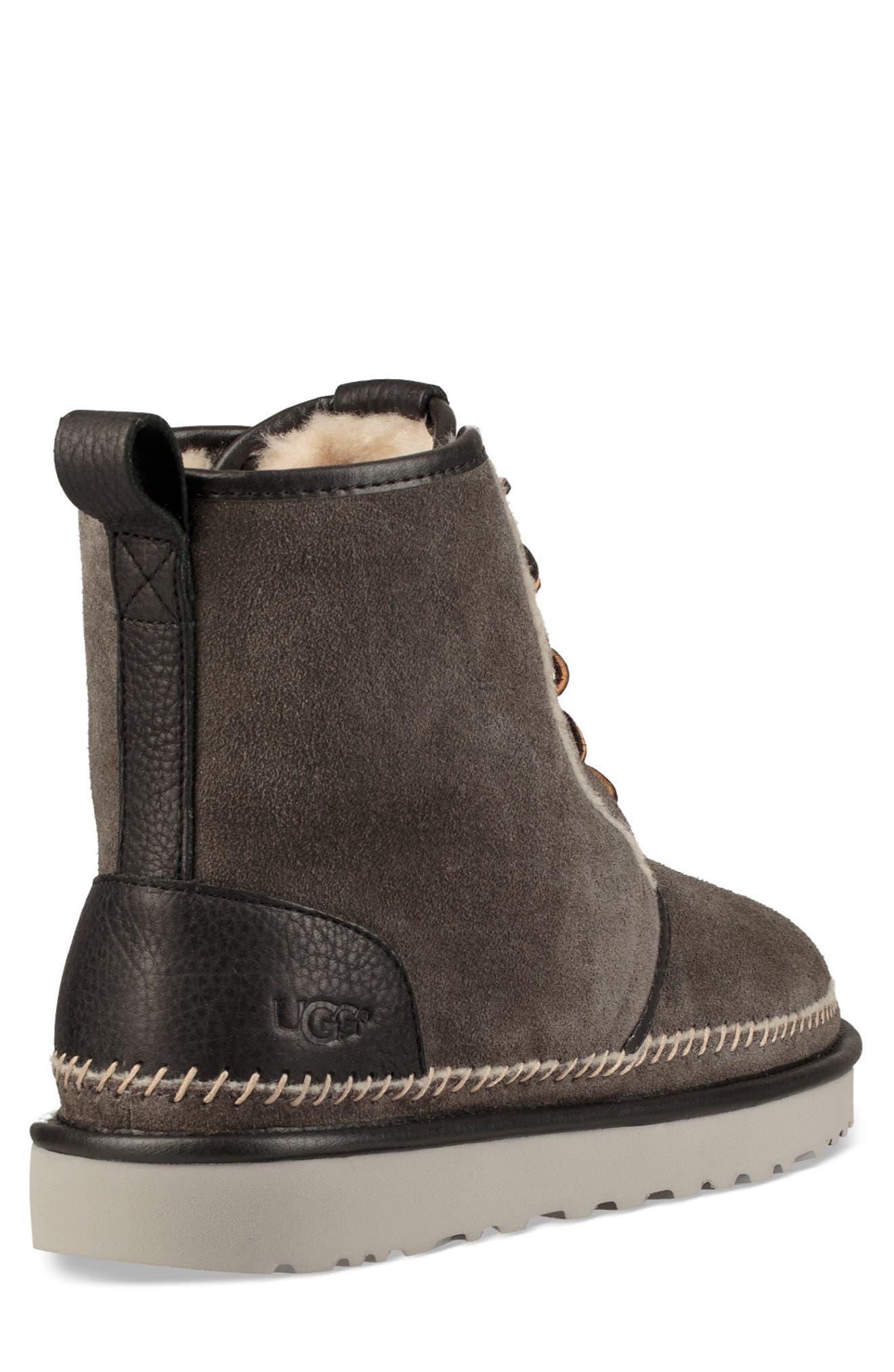 Harkley Stitch Plain Toe Boot,                             Alternate thumbnail 2, color,                             DARK GREY