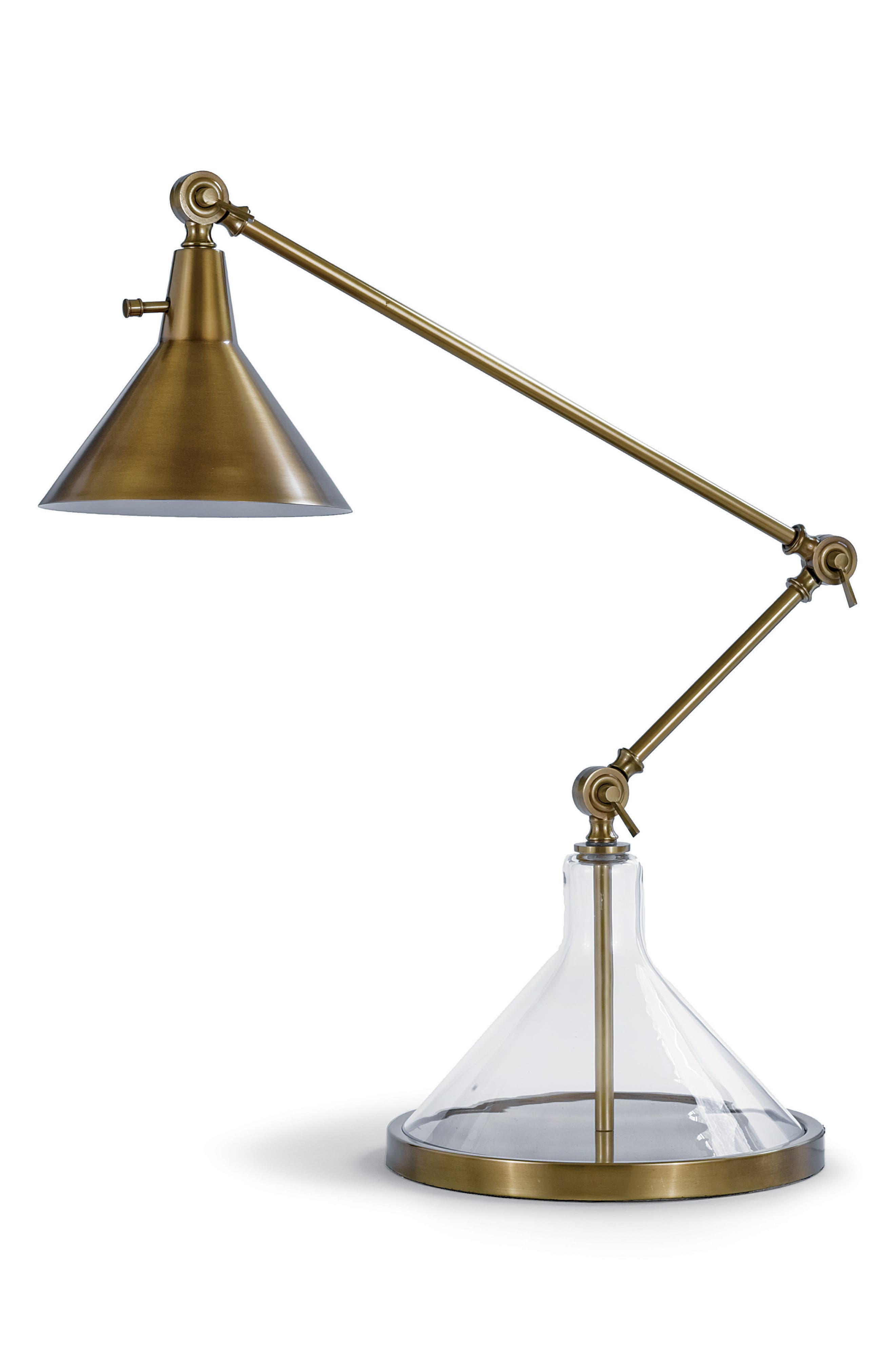 Brass Funnel Beaker Lamp,                             Main thumbnail 1, color,                             220