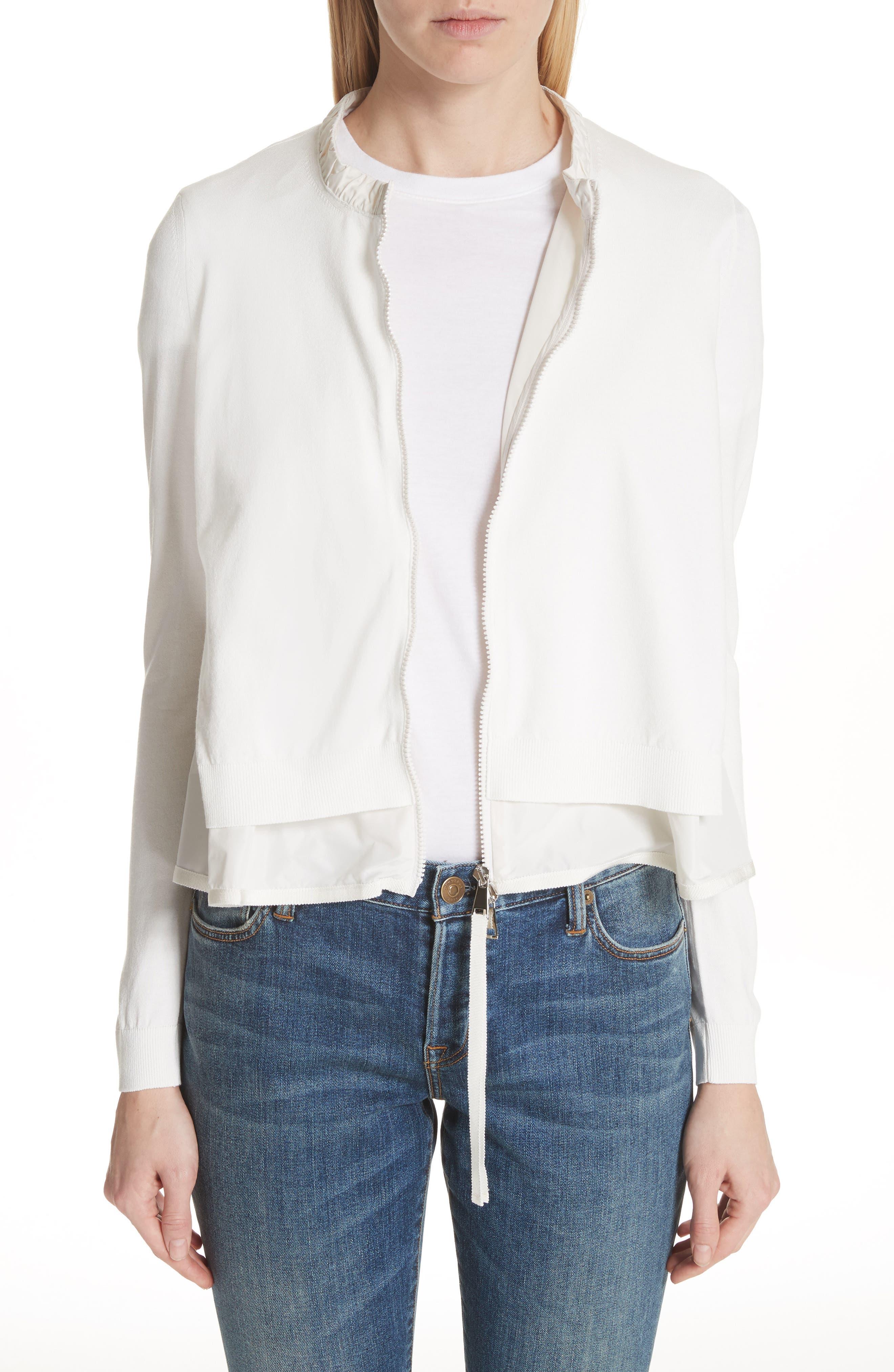 Moncler Maglia Tricot Cardigan, White