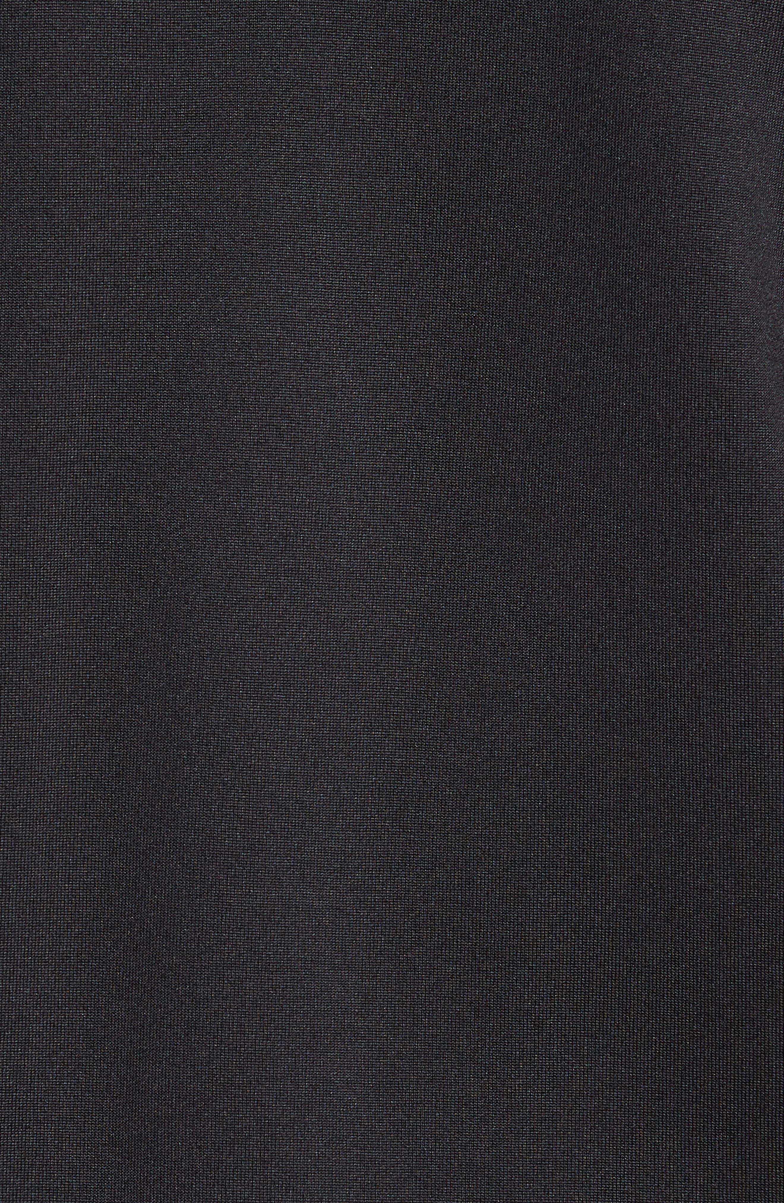 Crosstek Hybrid Hooded Jacket,                             Alternate thumbnail 5, color,                             BLACK