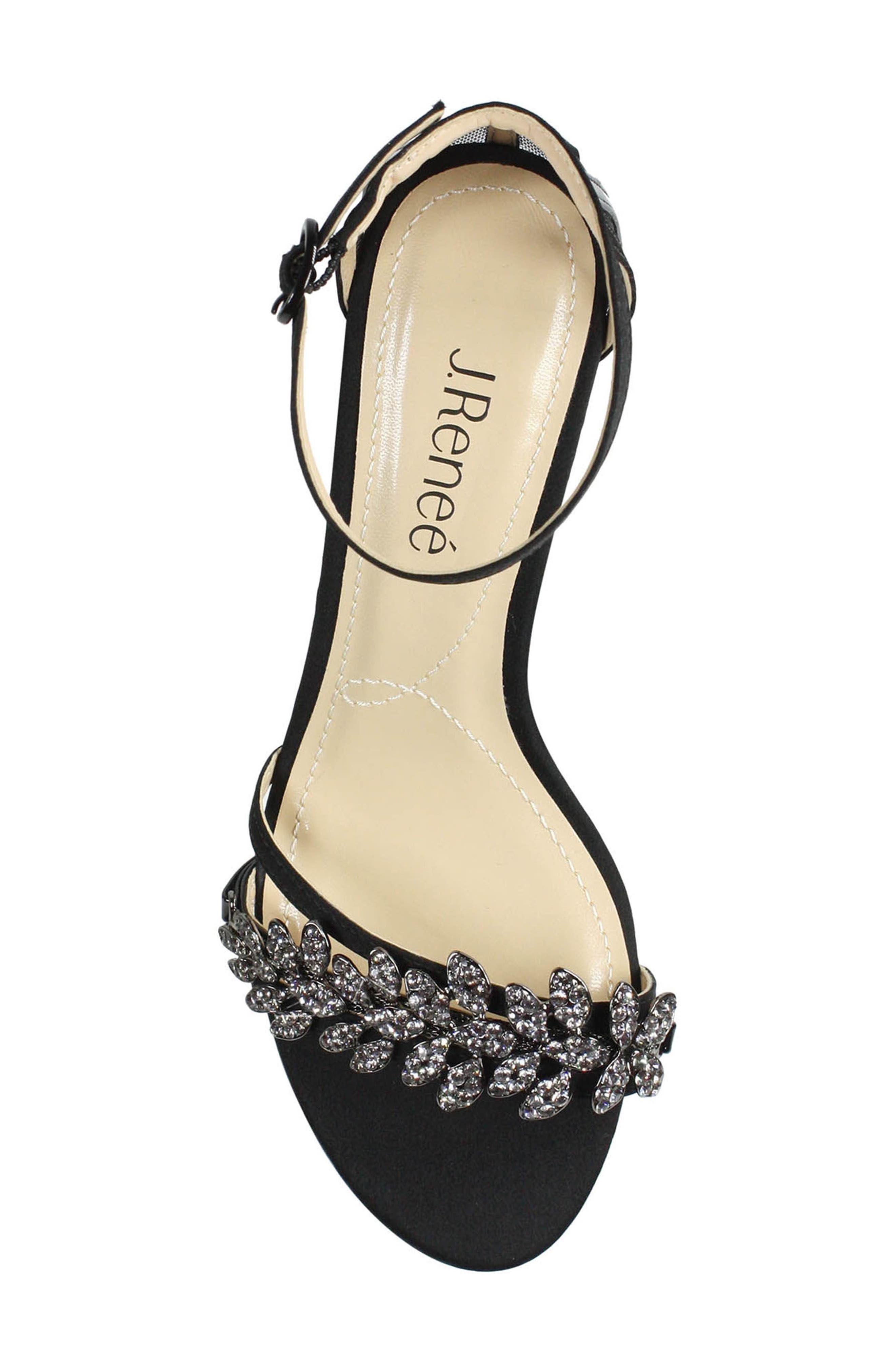 Mariabelle Ankle Strap Sandal,                             Alternate thumbnail 3, color,                             BLACK