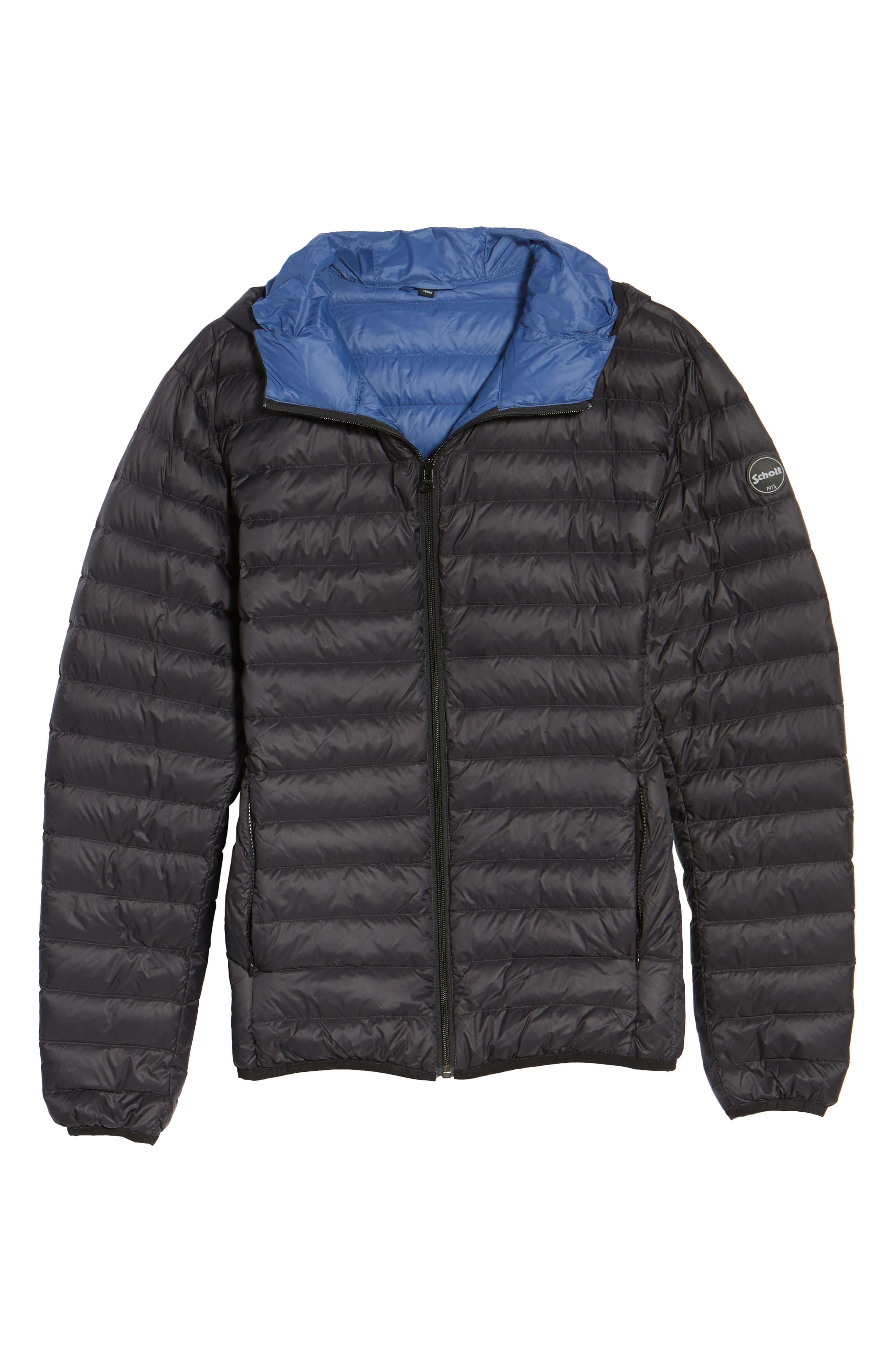 Zip Front Down Jacket,                             Alternate thumbnail 5, color,                             001