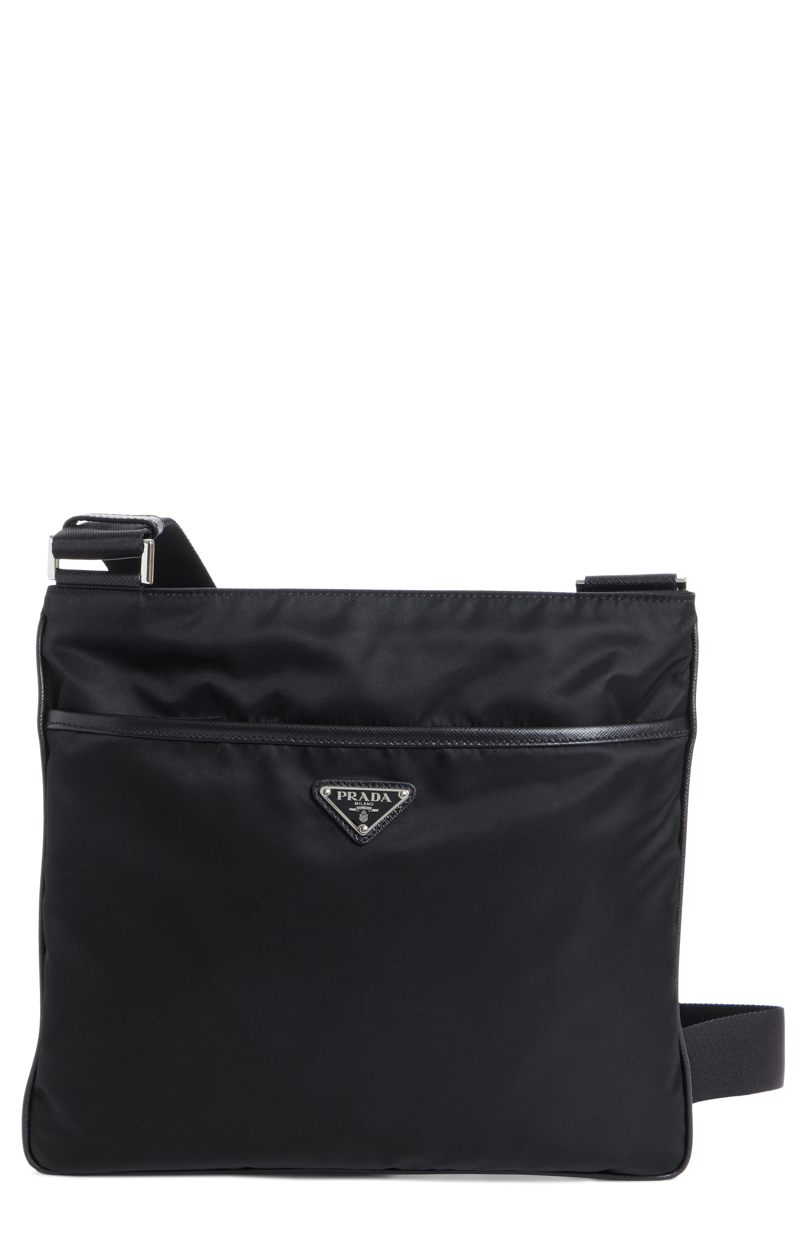 Slim Compact Messenger Bag,                         Main,                         color, NERO