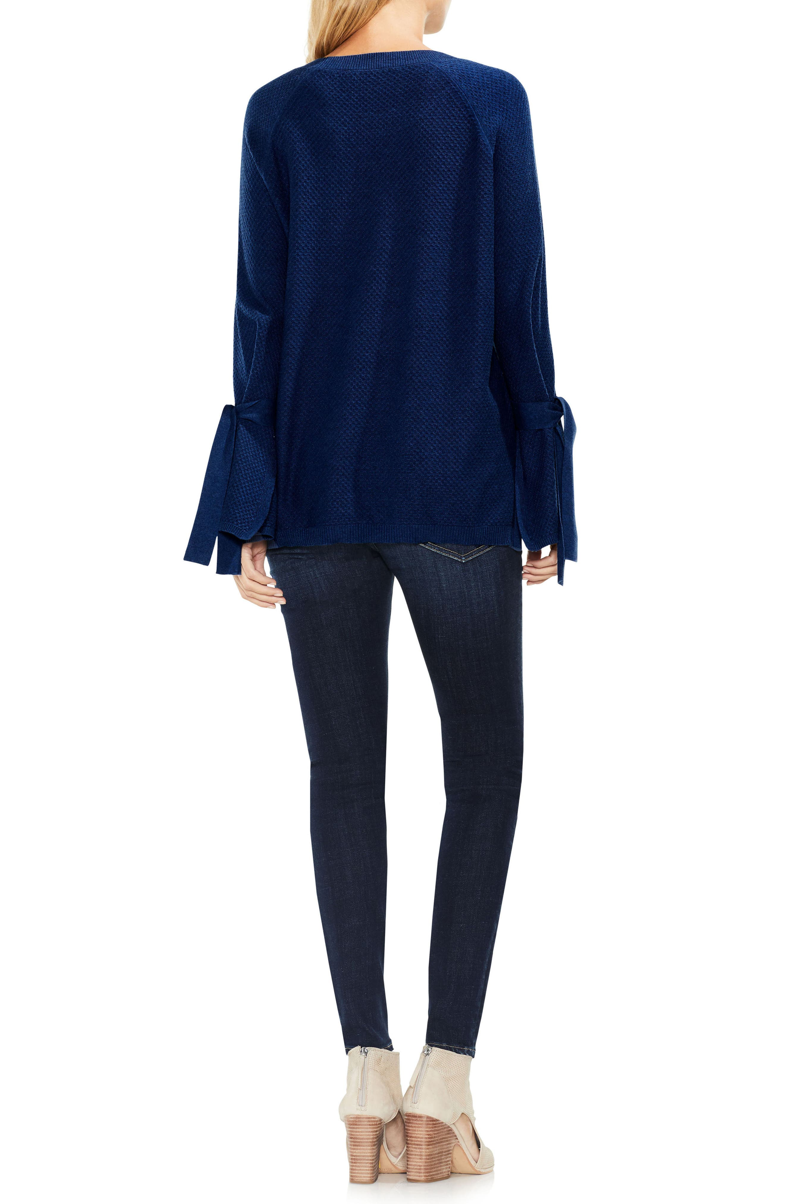Texture Stitch Tie-Sleeve Top,                             Alternate thumbnail 10, color,