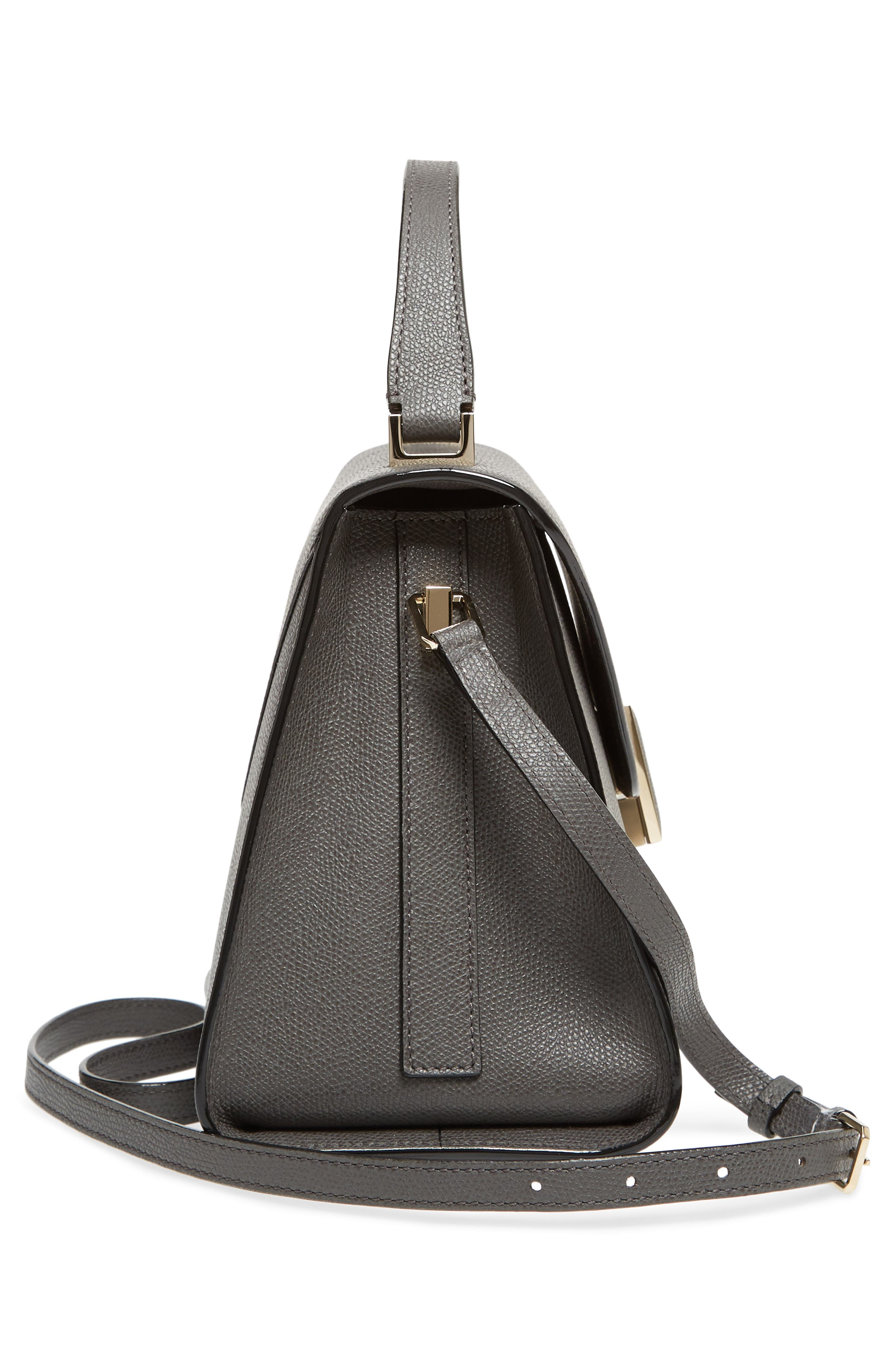 Iside Medium Top Handle Bag,                             Alternate thumbnail 5, color,                             FUMO DI LONDRA