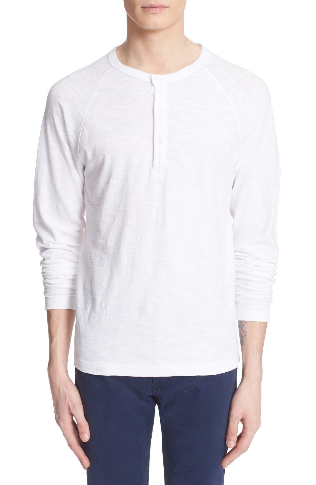 Long Sleeve Cotton Jersey Henley,                             Main thumbnail 1, color,                             100