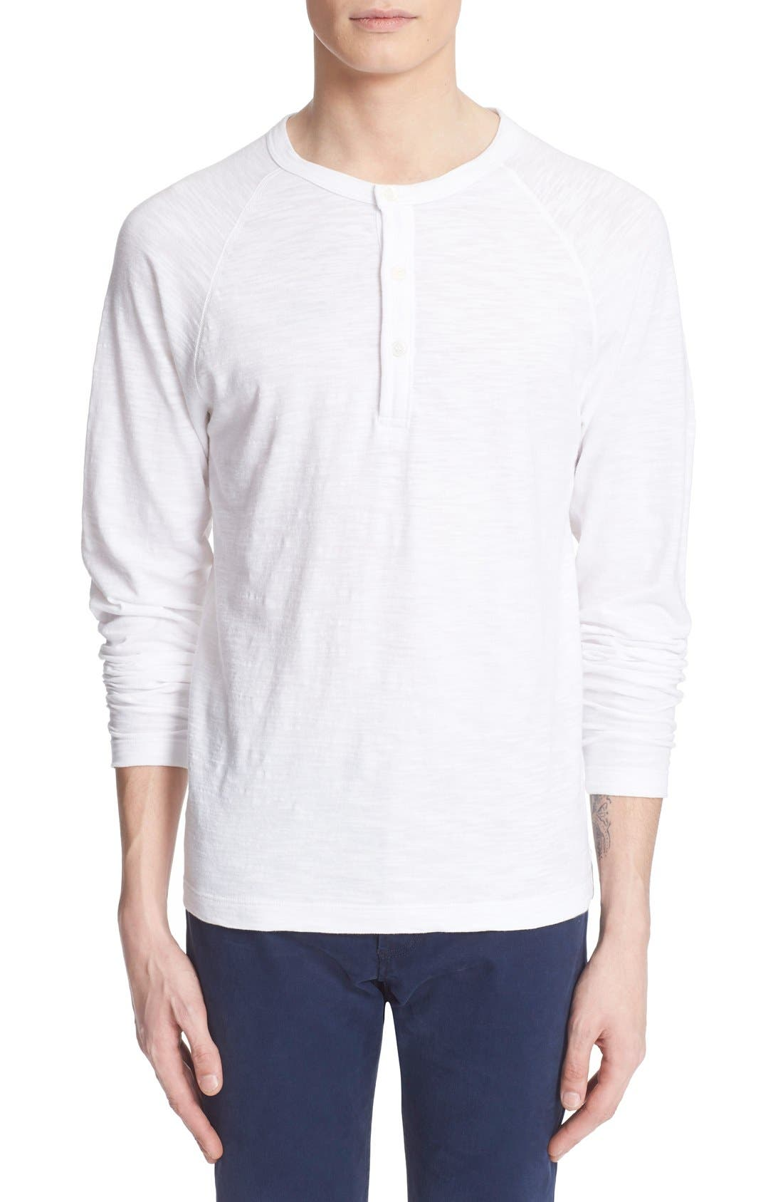 Long Sleeve Cotton Jersey Henley,                         Main,                         color, 100