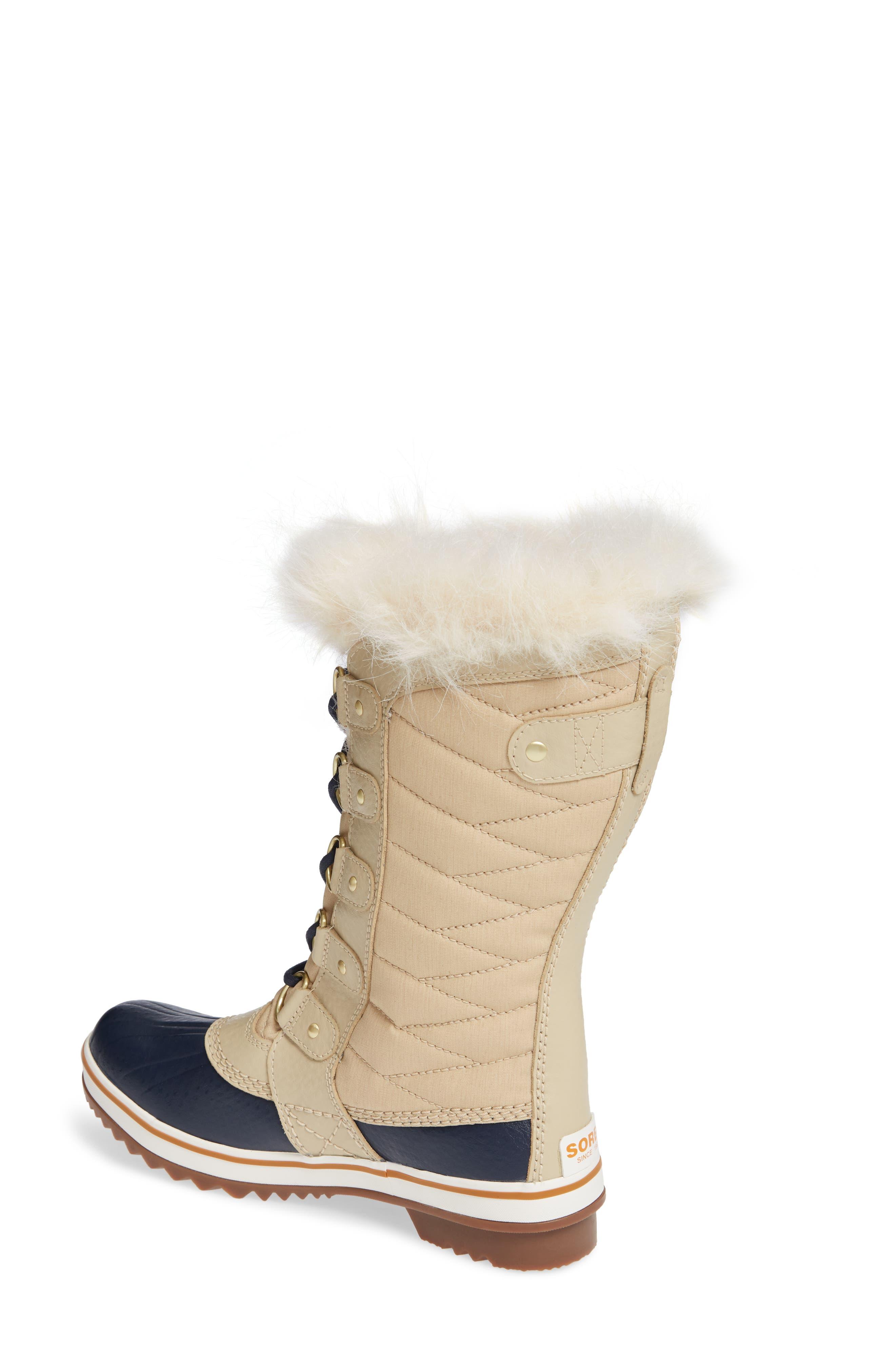 'Tofino II' Faux Fur Lined Waterproof Boot,                             Alternate thumbnail 2, color,                             OATMEAL