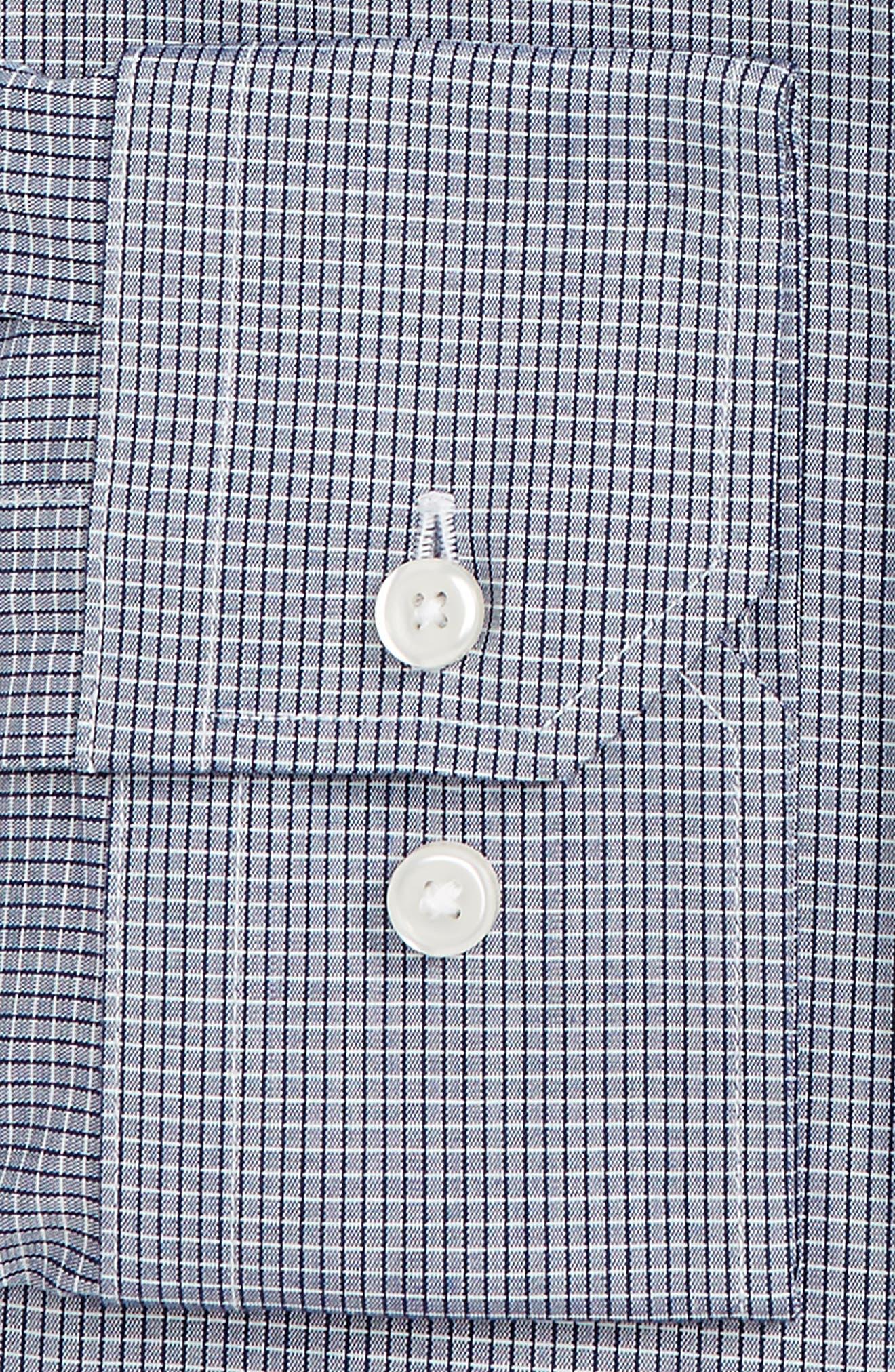 Trim Fit Stretch No-Iron Check Dress Shirt,                             Alternate thumbnail 2, color,                             410