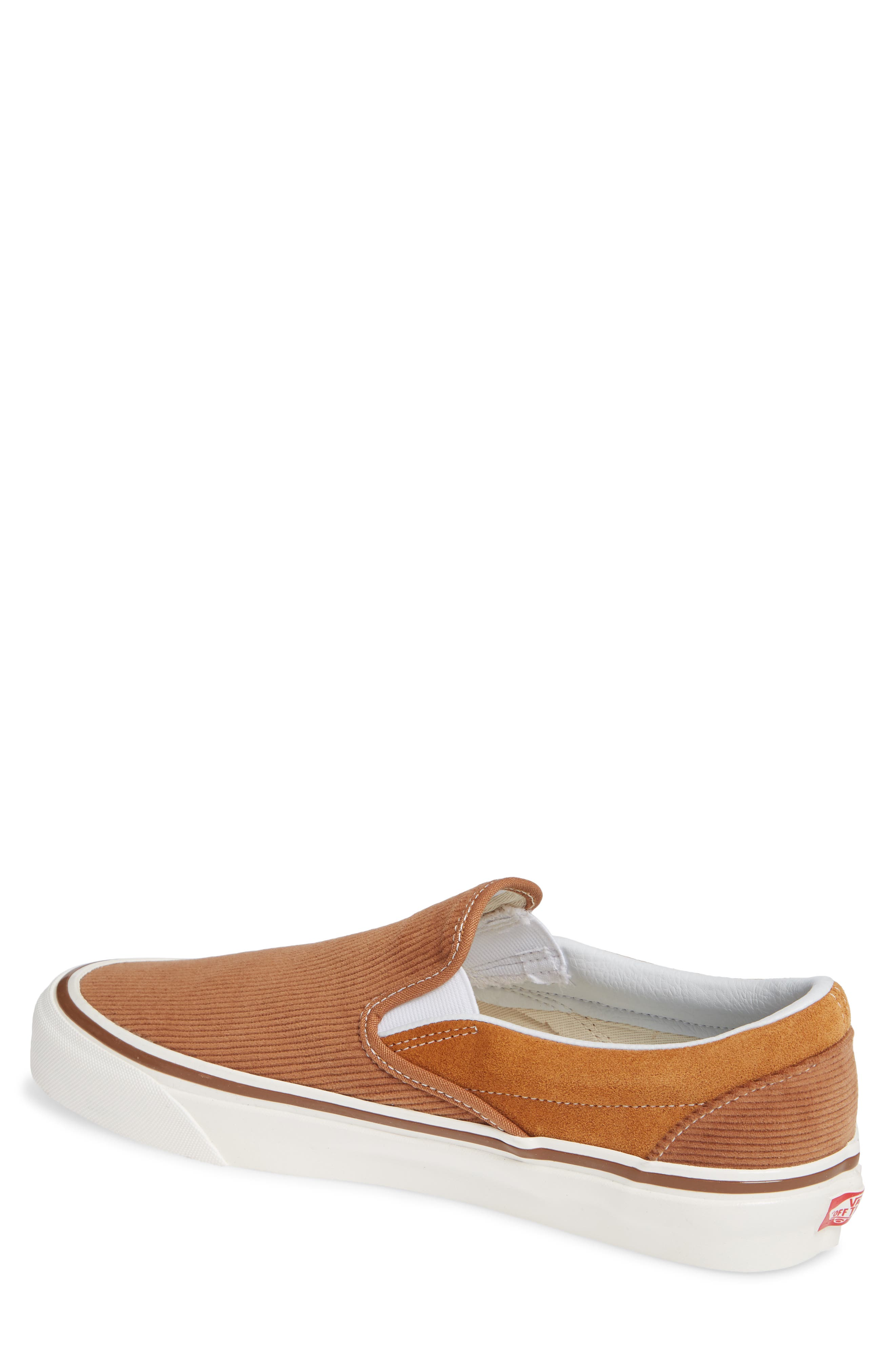 Classic 98 DX Slip-On Sneaker,                             Alternate thumbnail 2, color,                             BROWN/ CORDUROY