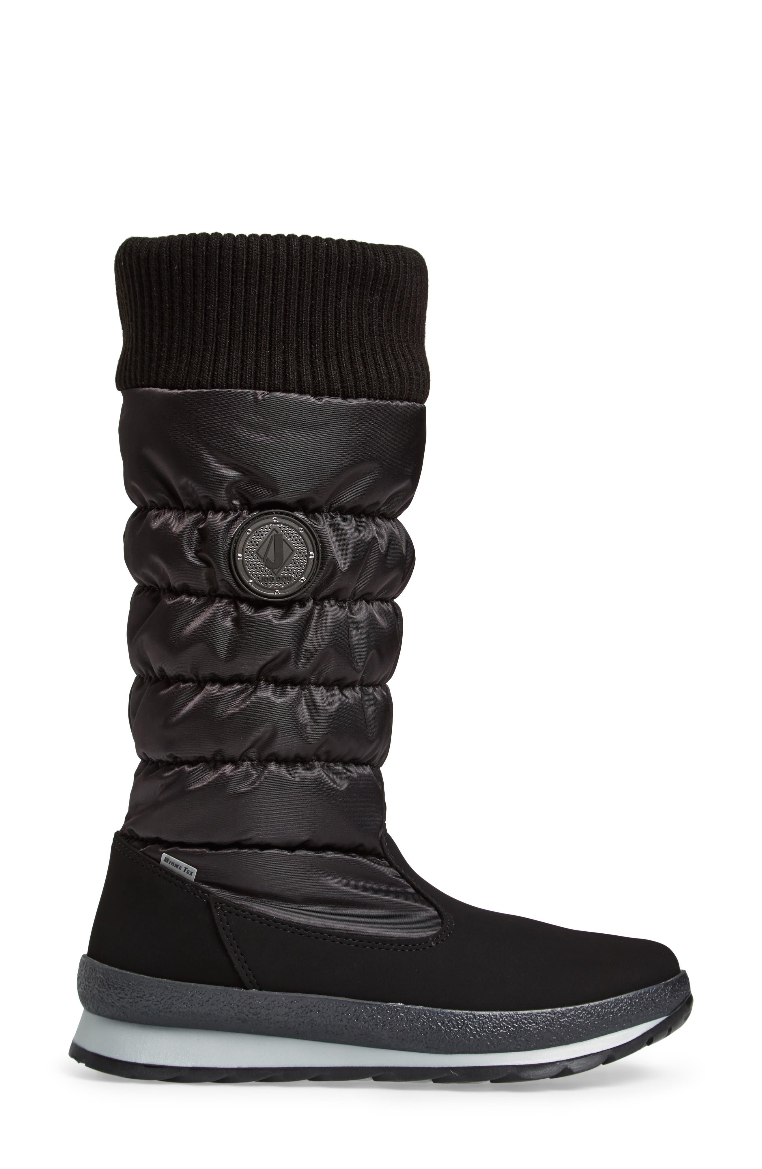 St. Anton Waterproof Winter Boot,                             Alternate thumbnail 3, color,                             BLACK/ ANTHRACITE