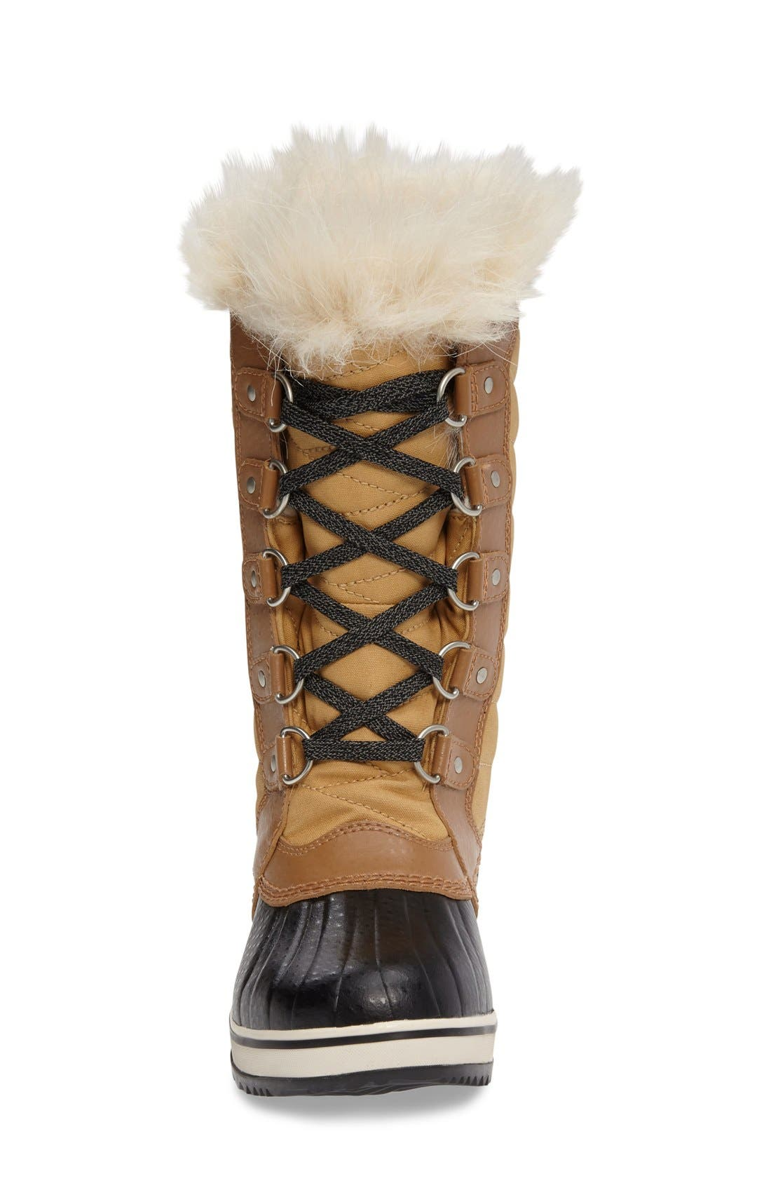 Tofino II Faux Fur Lined Waterproof Boot,                             Alternate thumbnail 4, color,                             CURRY/ ELK