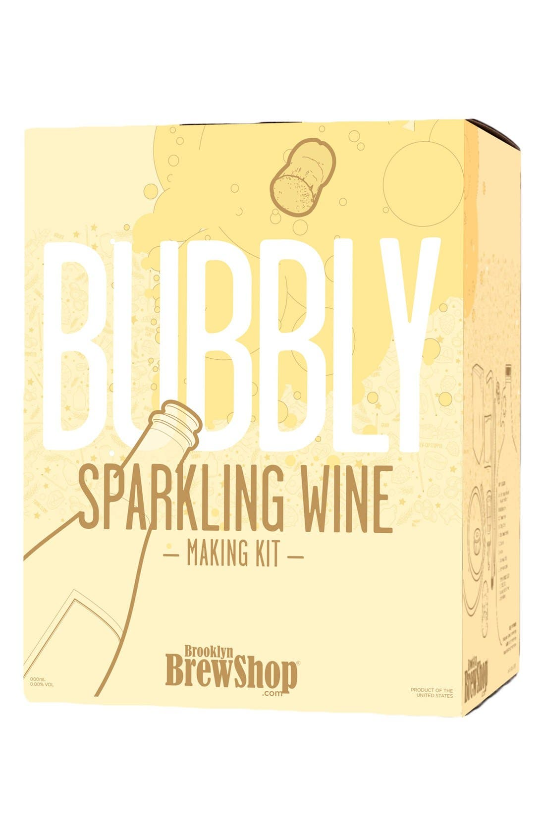 Bubbly Sparkling Wine Making Kit,                         Main,                         color, YELLOW