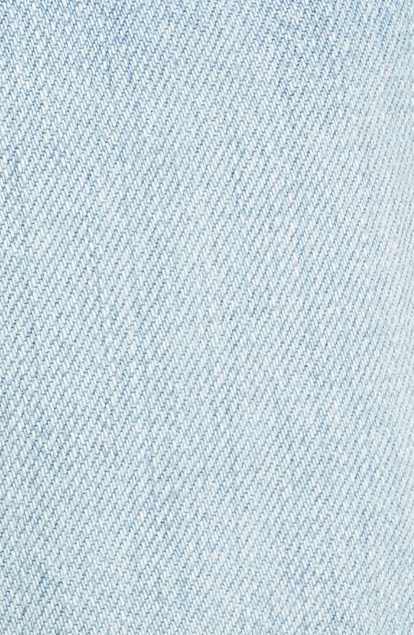 Cutoff Denim Shorts,                             Alternate thumbnail 5, color,                             402