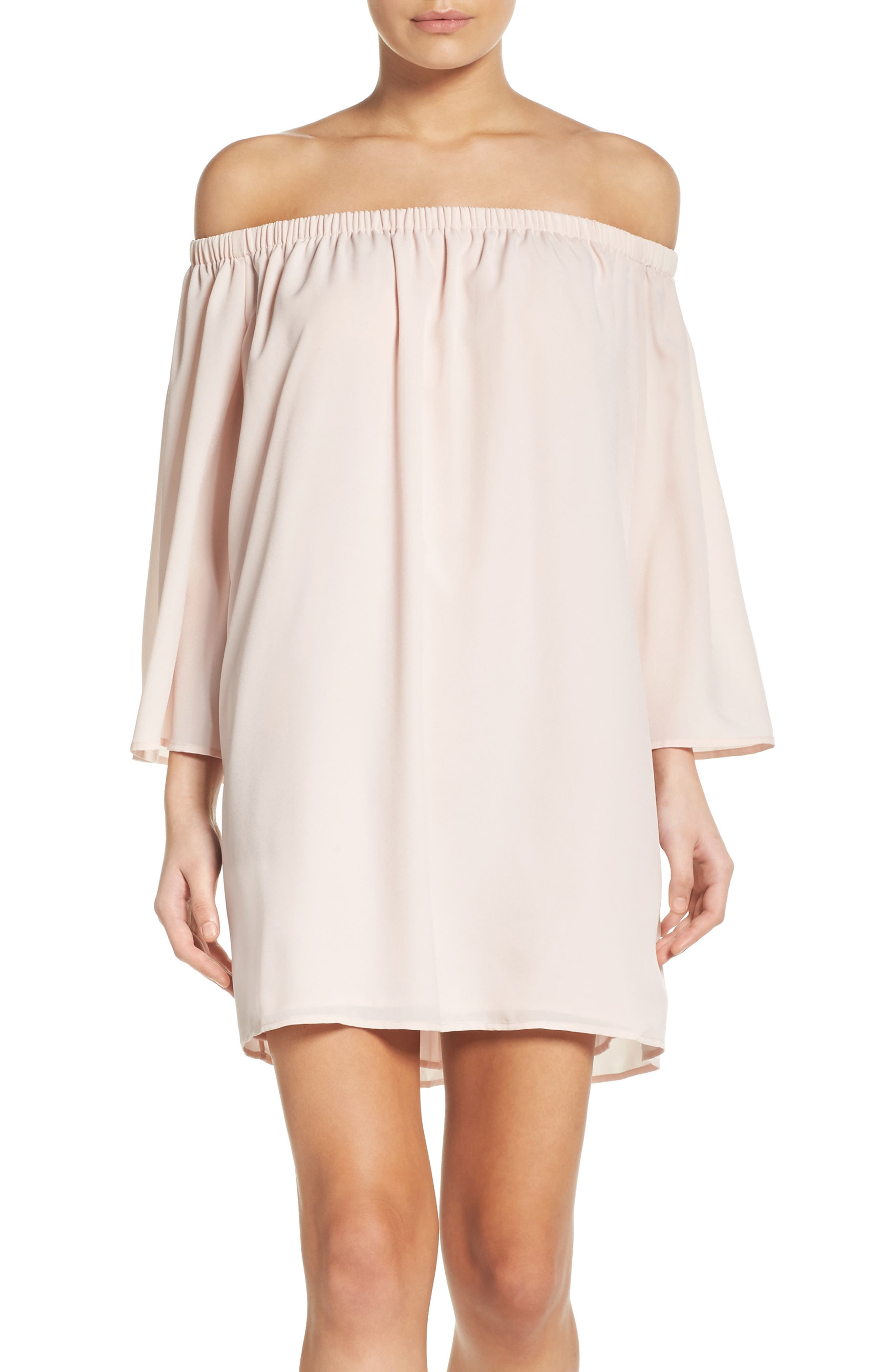 Polly Off the Shoulder Dress,                             Main thumbnail 3, color,