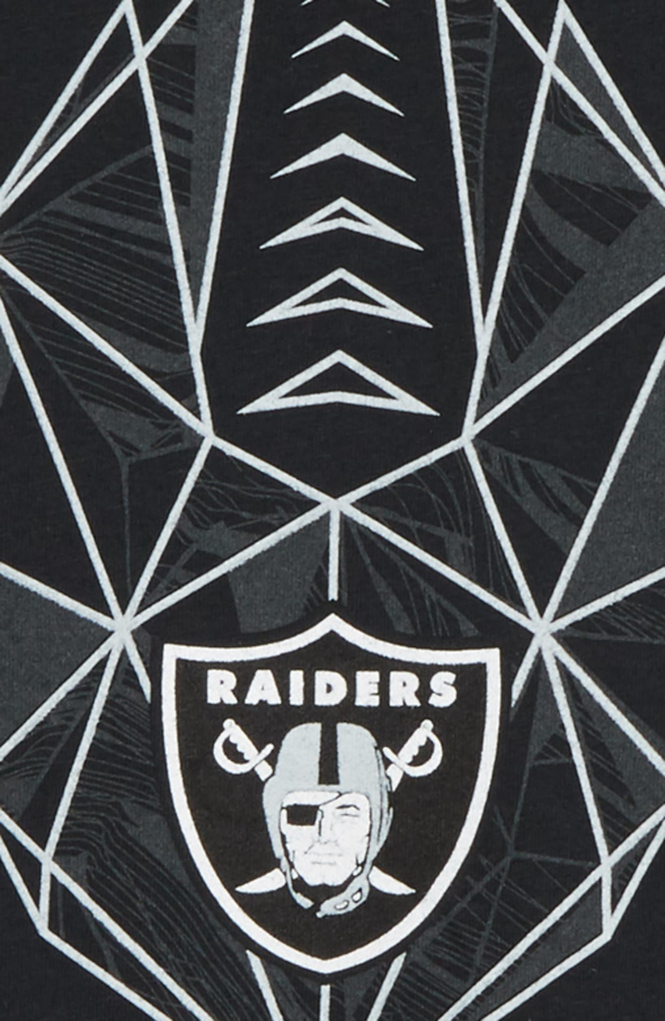 NFL Logo Oakland Raiders Graphic T-Shirt,                             Alternate thumbnail 2, color,                             BLACK