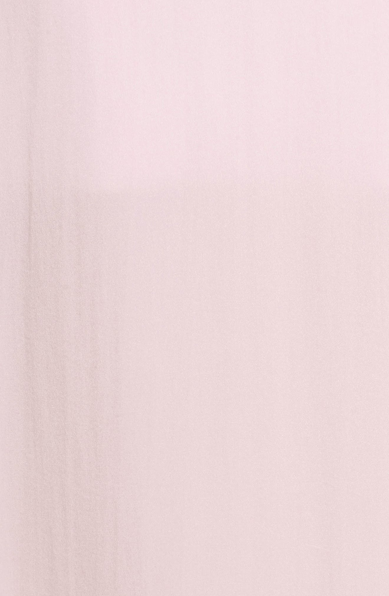 Silk Nightgown,                             Alternate thumbnail 5, color,                             ICE PINK