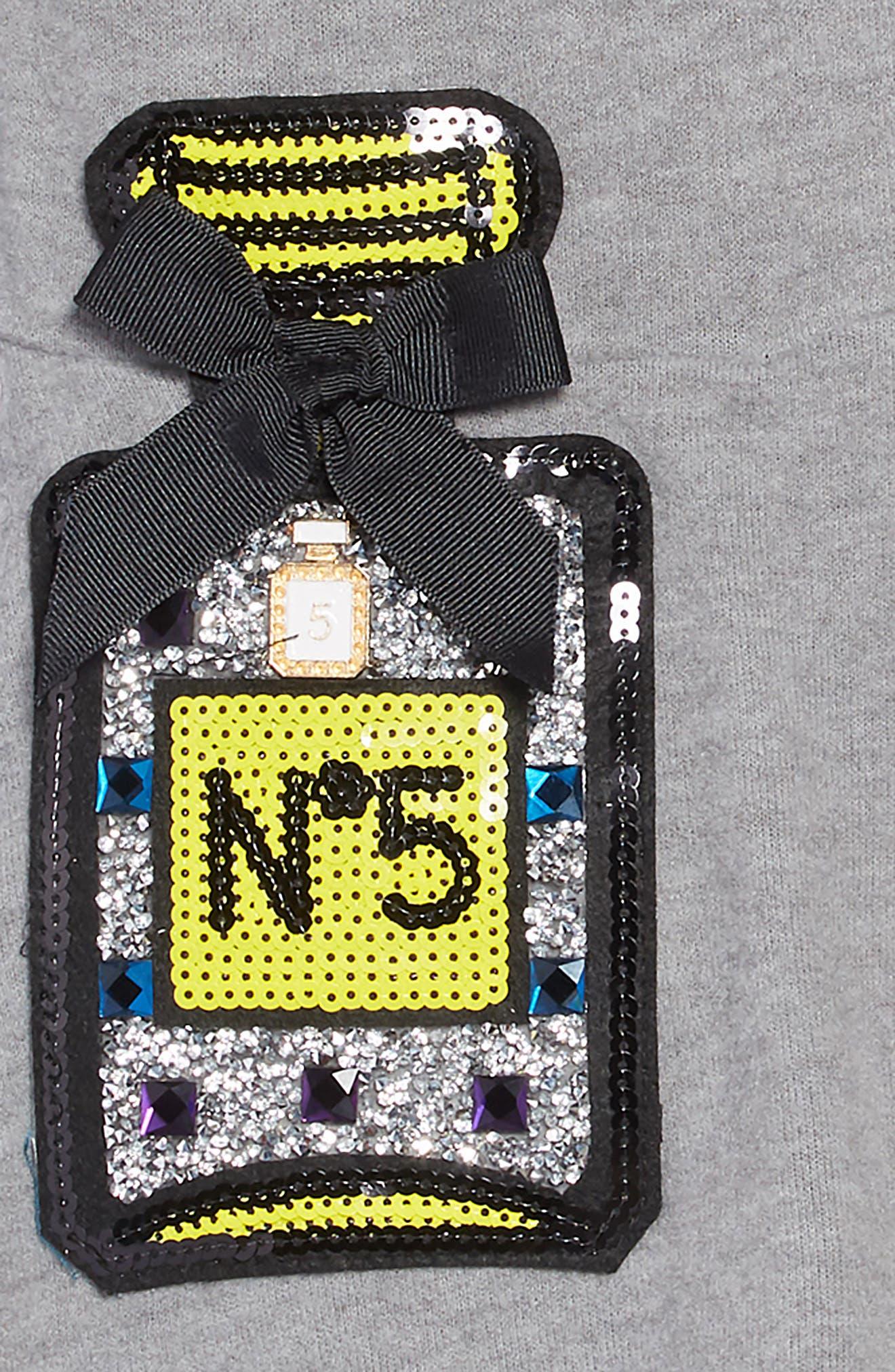 Sequin Appliqué Knit Skater Dress,                             Alternate thumbnail 3, color,                             020