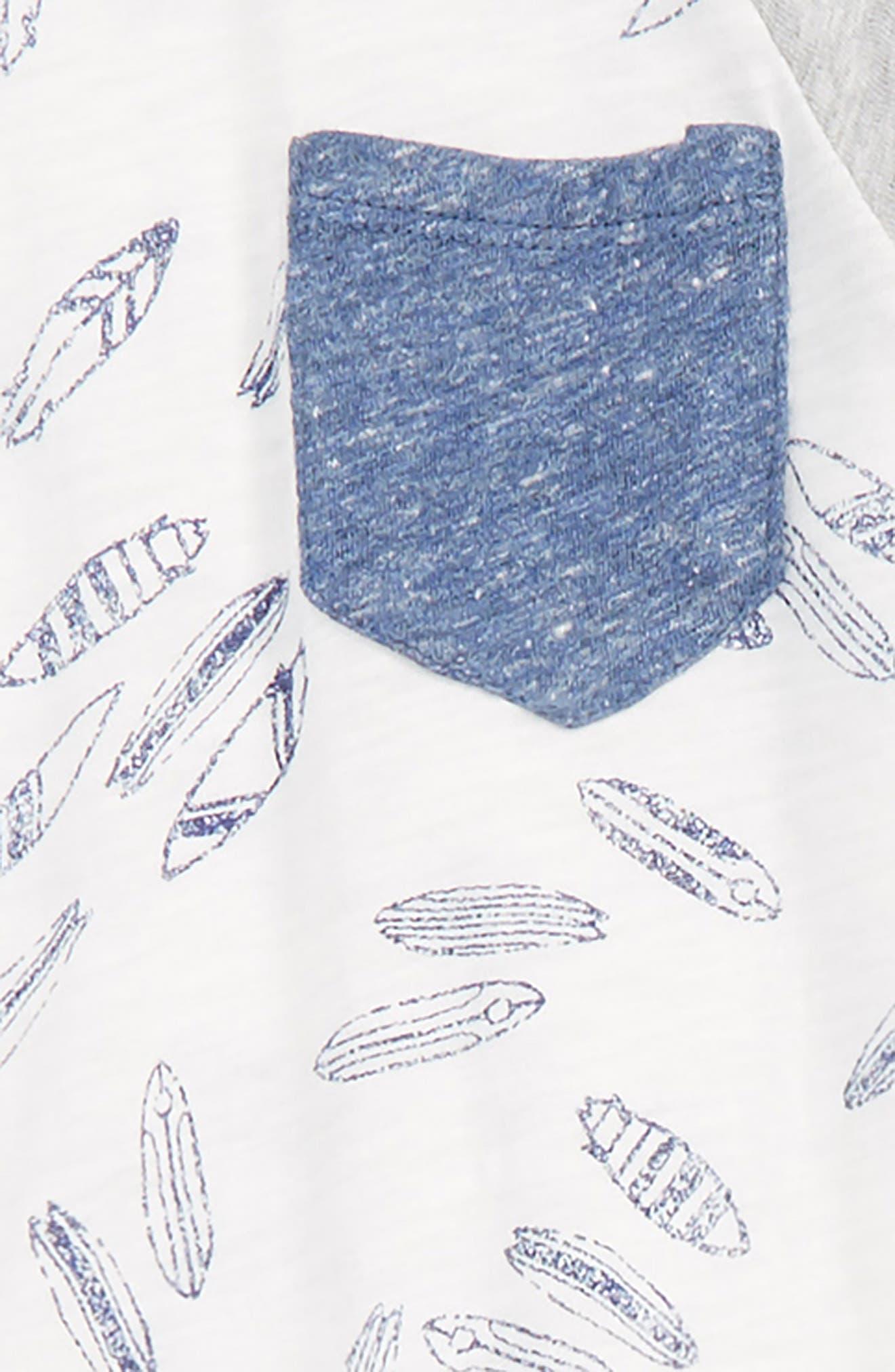 Surfboard T-Shirt & Shorts Set,                             Alternate thumbnail 2, color,