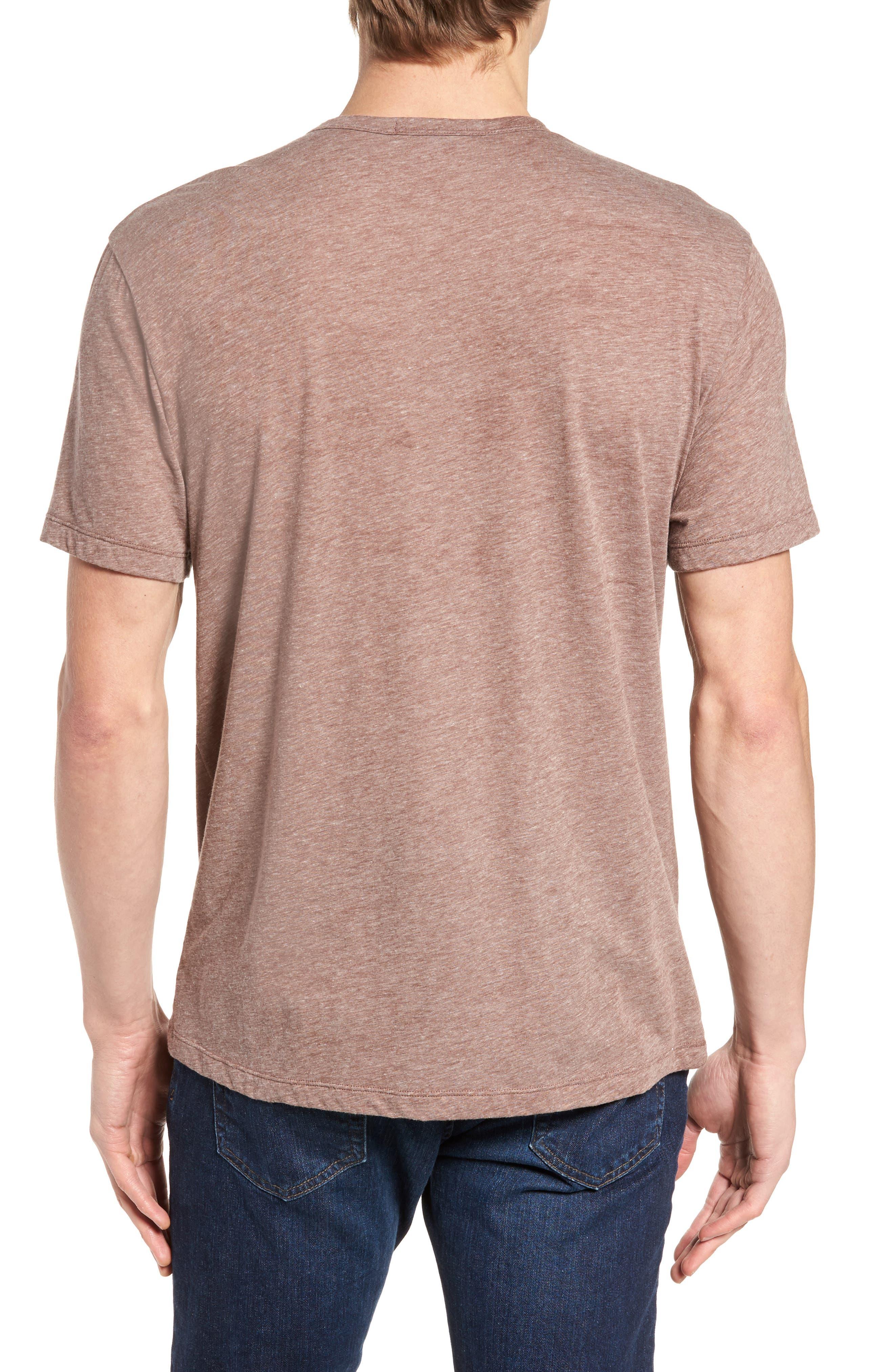 Slubbed Cotton & Linen Pocket T-Shirt,                             Alternate thumbnail 6, color,