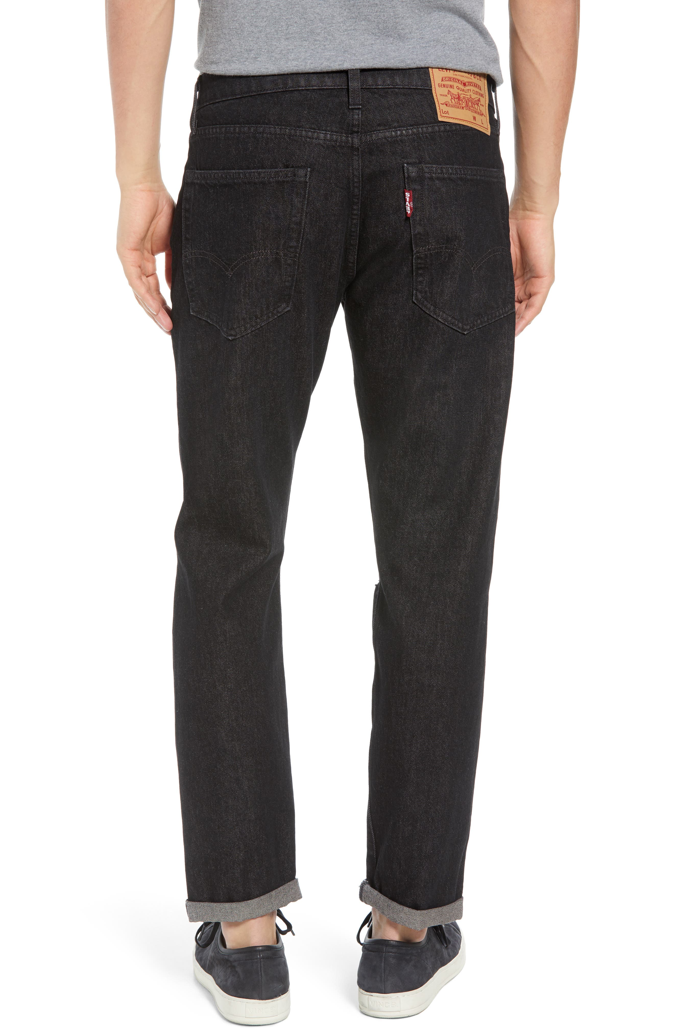 Hi-Ball Straight Fit Jeans,                             Alternate thumbnail 2, color,                             001