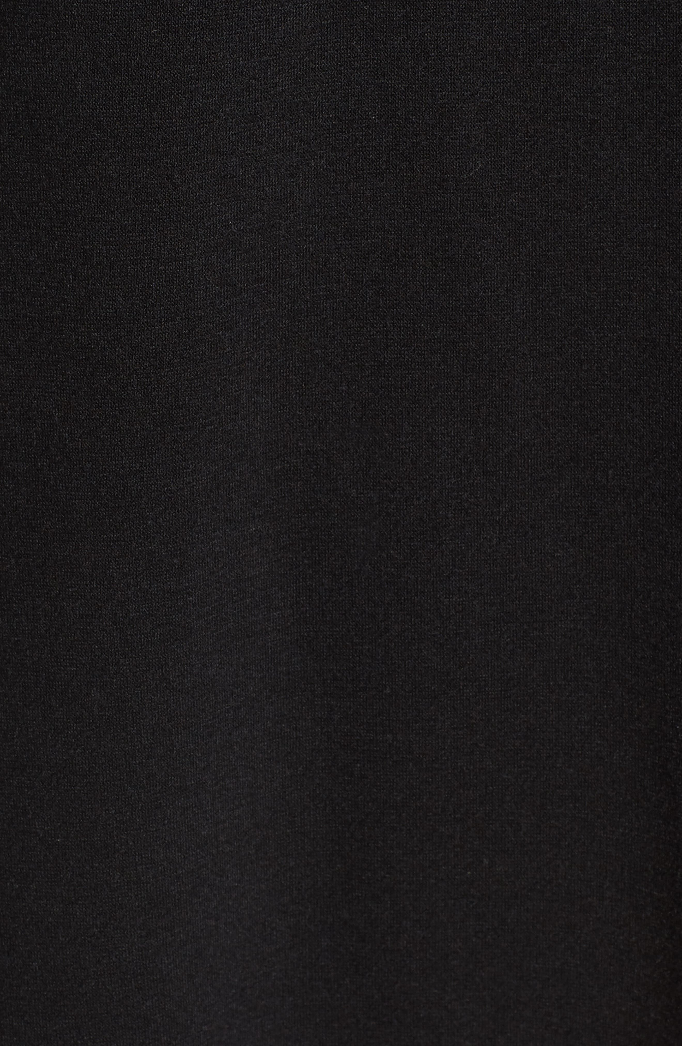 Tulle Ruffle Sweatshirt Dress,                             Alternate thumbnail 5, color,                             001