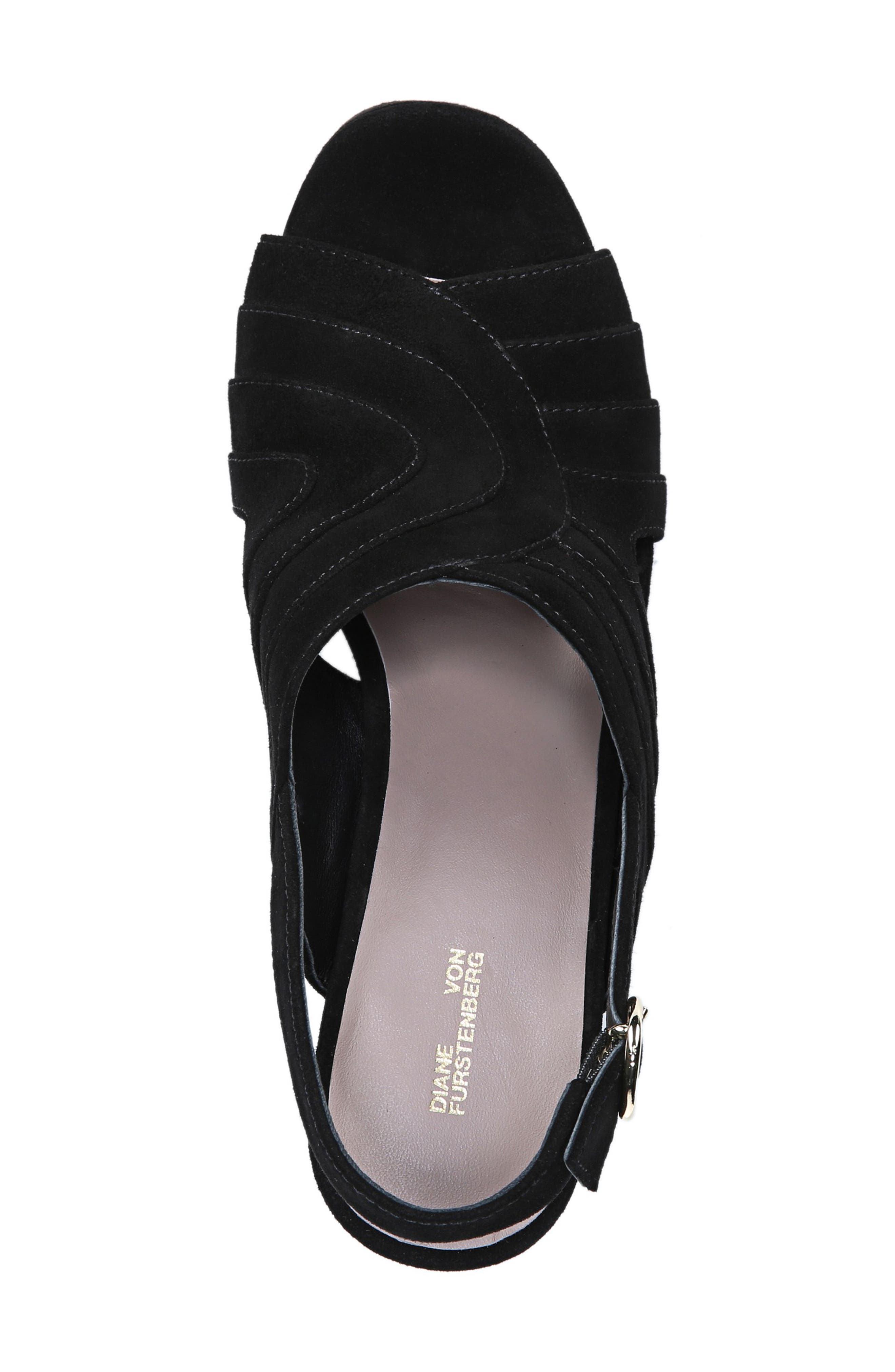 Tabby Platform Sandal,                             Alternate thumbnail 5, color,                             BLACK