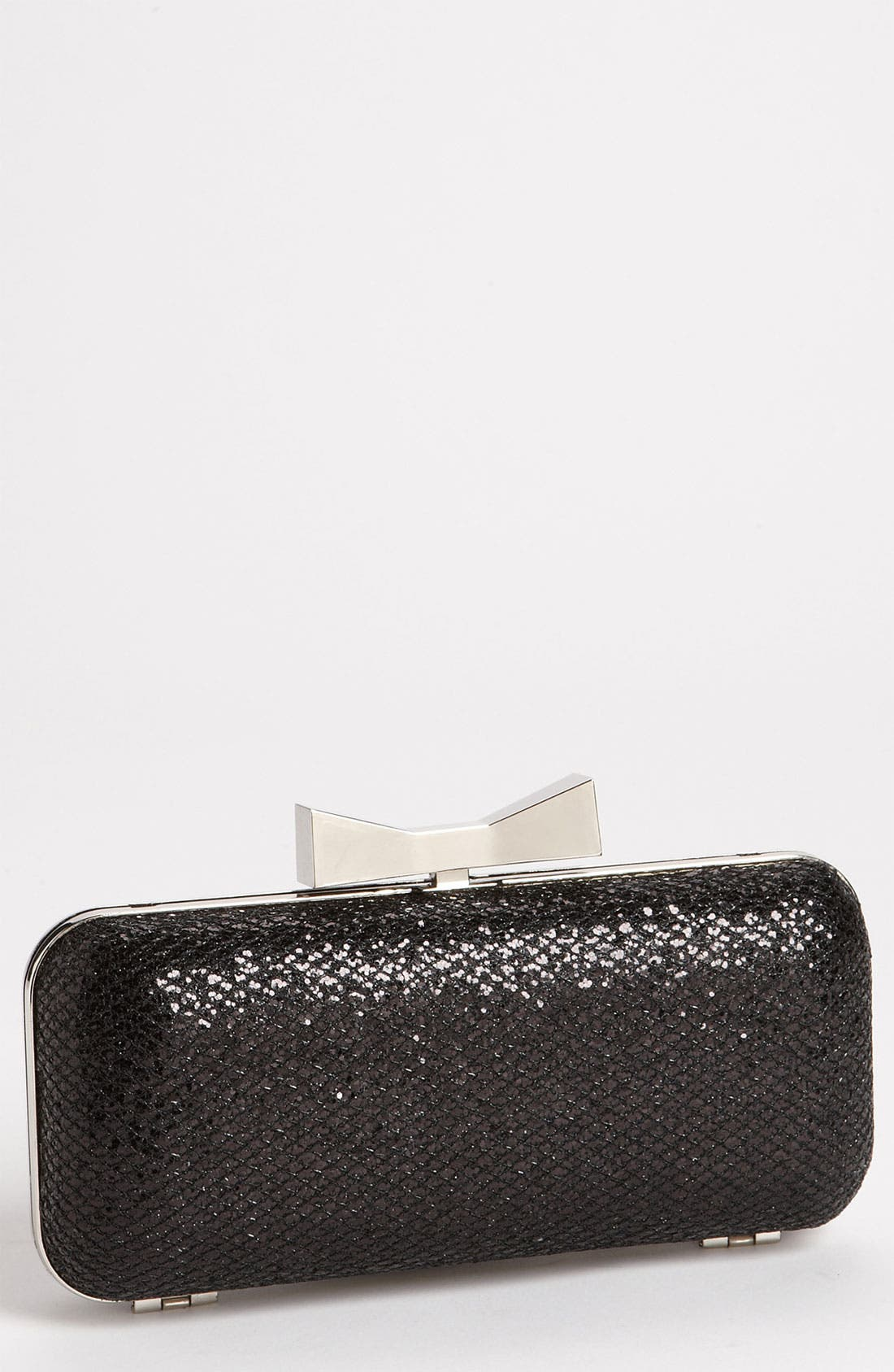 Natasha Couture 'Glitter' Clutch,                             Main thumbnail 1, color,                             001