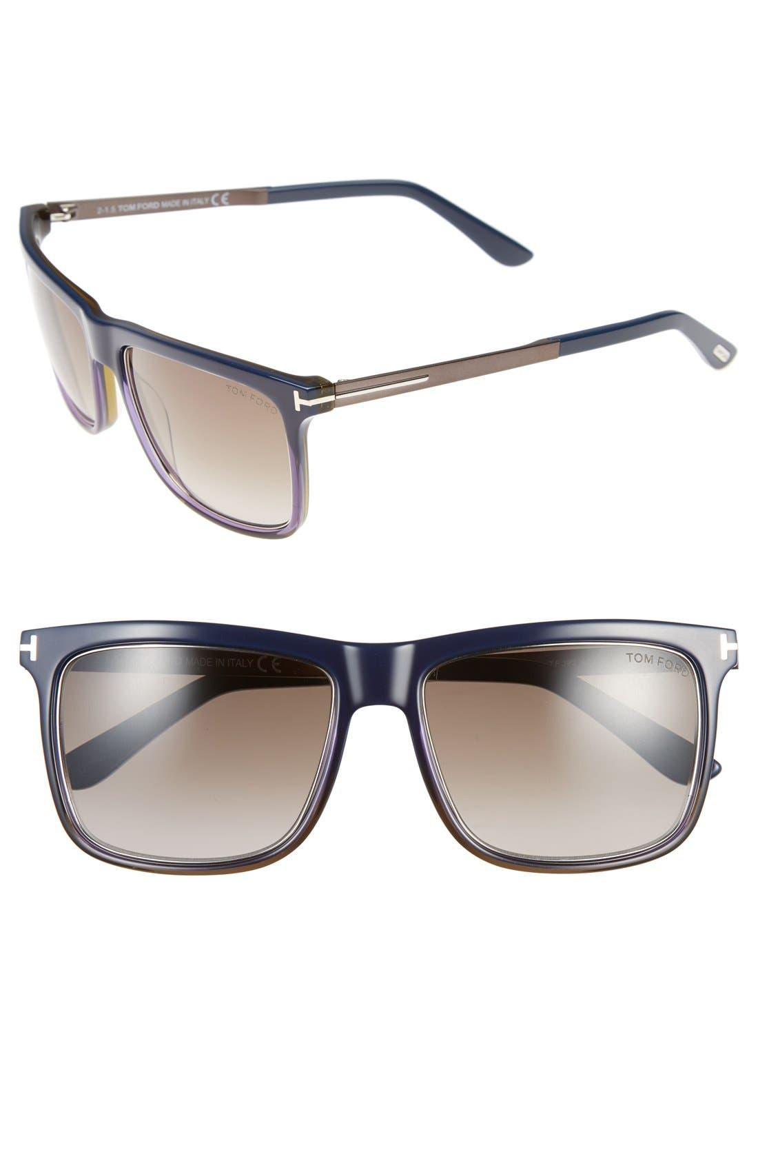 'Karlie' 57mm Retro Sunglasses,                             Main thumbnail 3, color,