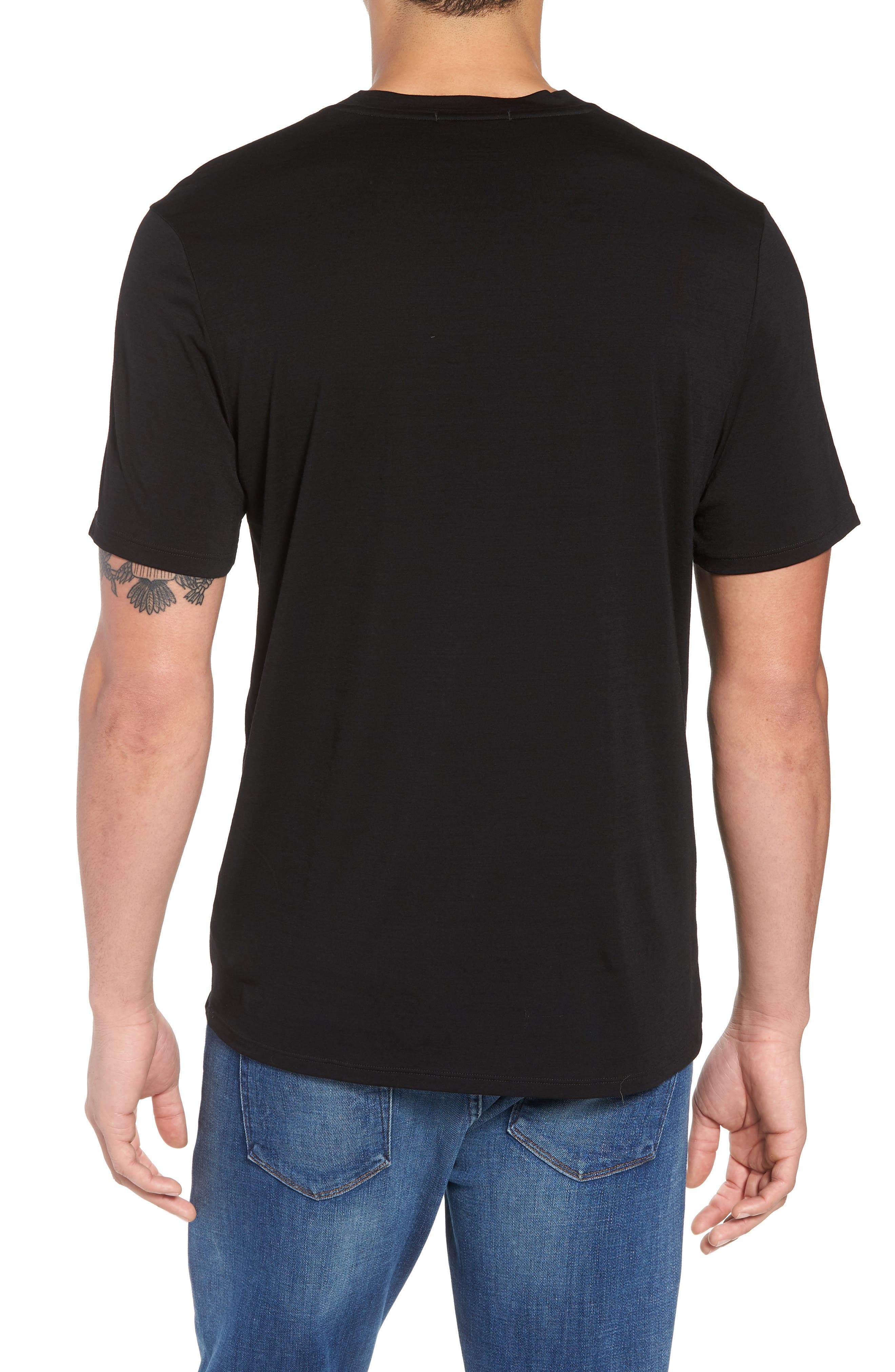 Merino 150 Wool Blend T-Shirt,                             Alternate thumbnail 2, color,                             001