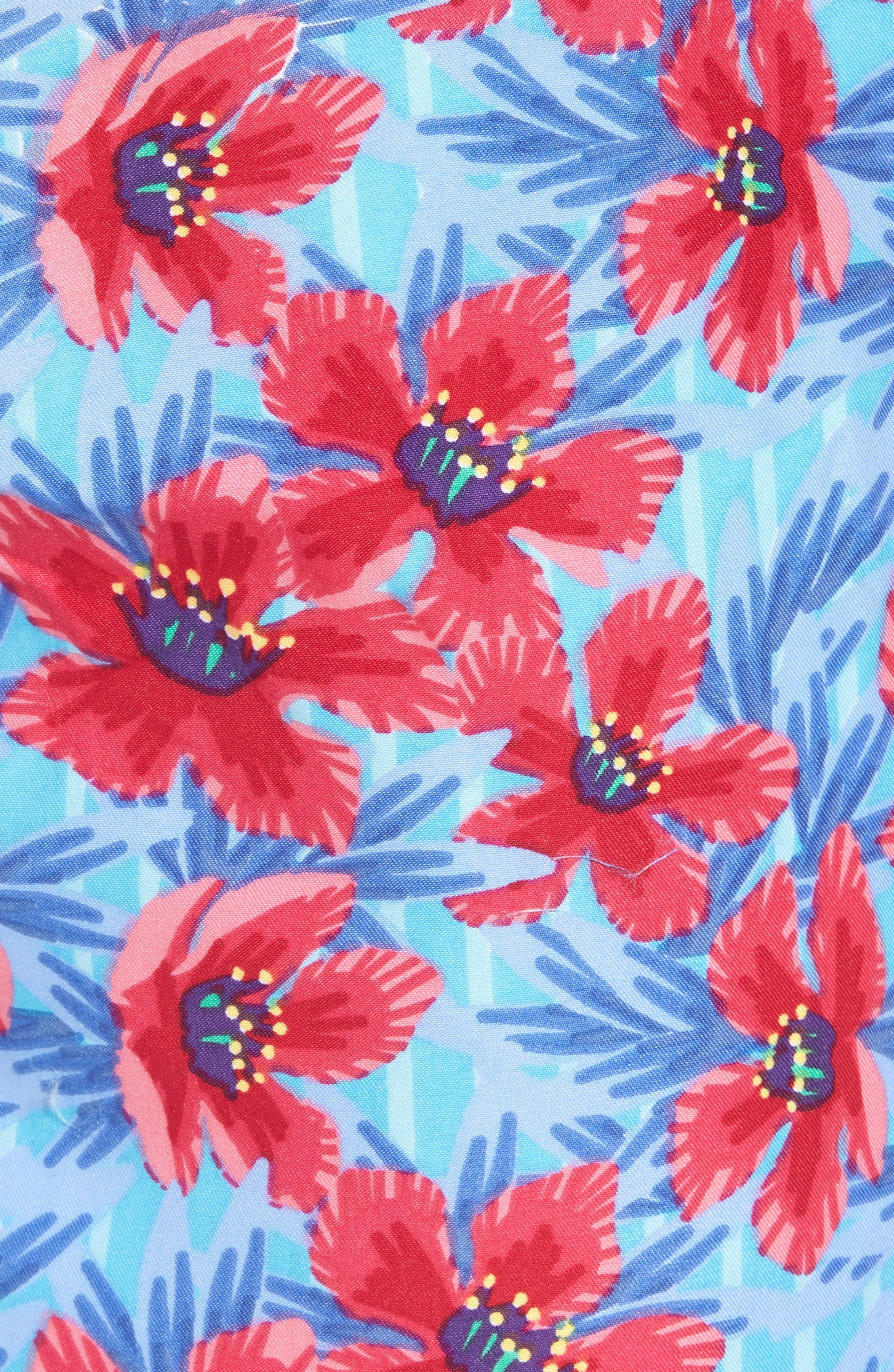 Spanish Flowers Swim Trunks,                             Alternate thumbnail 5, color,                             464