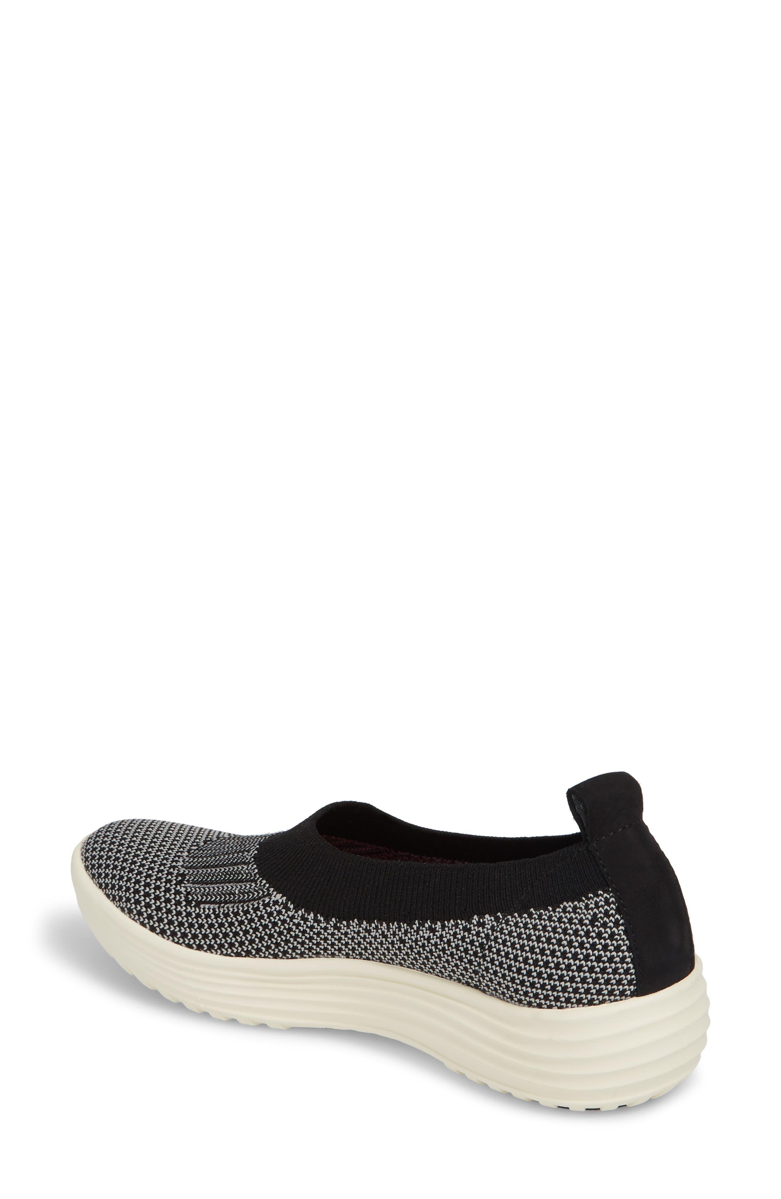 Merigold Slip-On Sock Fit Sneaker,                             Alternate thumbnail 2, color,                             BLACK/ MIST GREY FABRIC