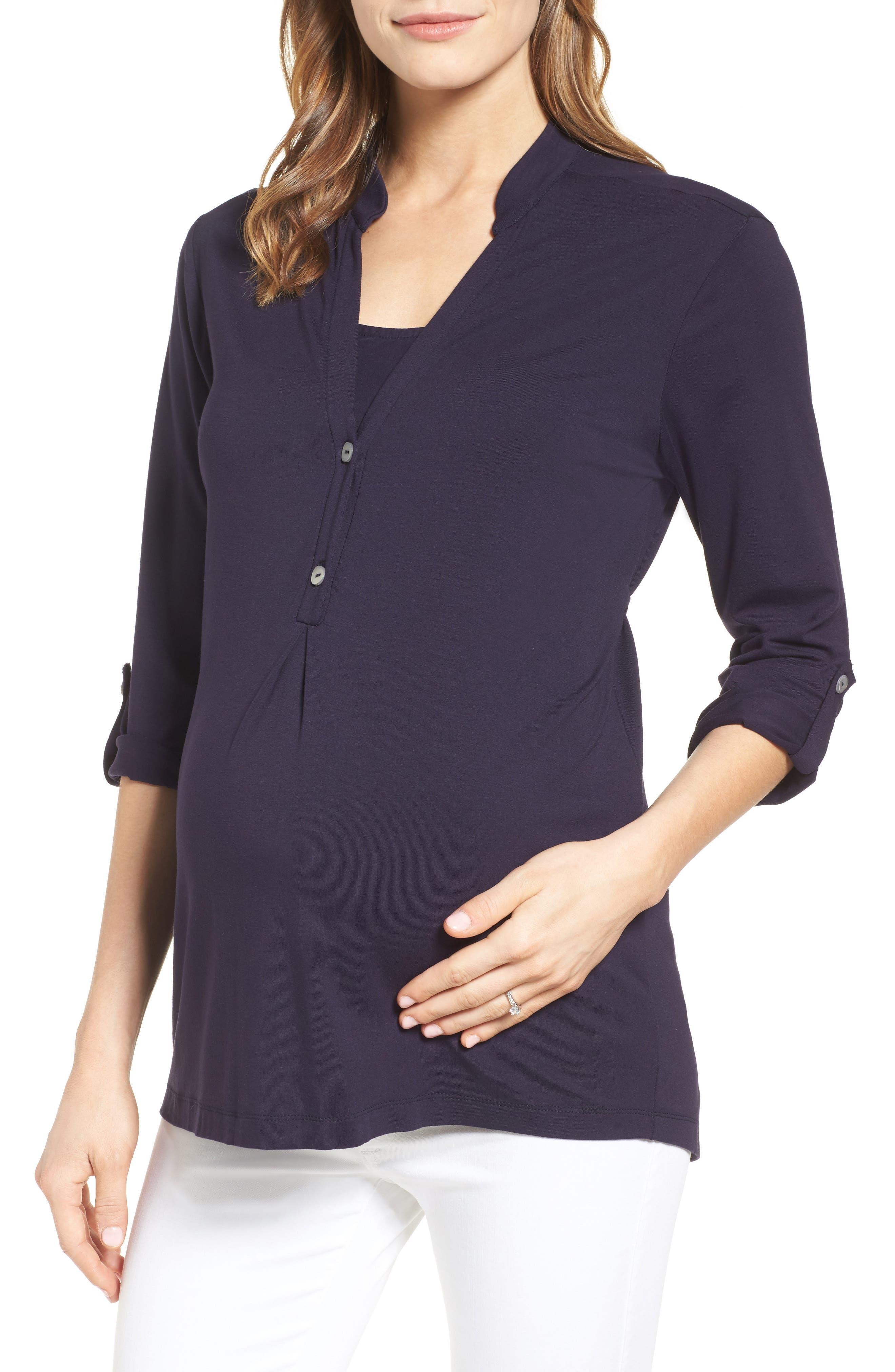 Lawson Maternity/Nursing Top,                             Main thumbnail 1, color,                             411