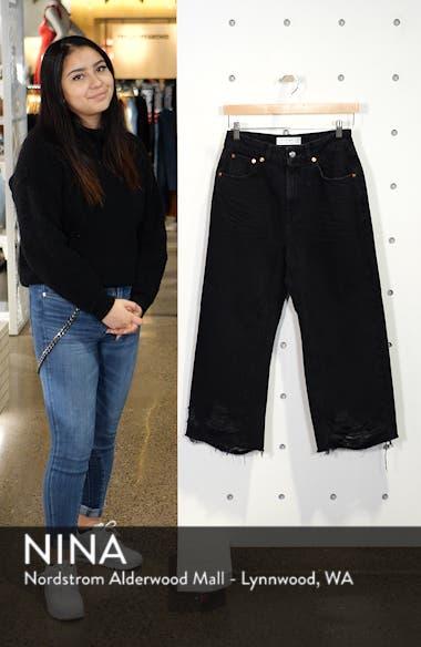 Crop Ladder Hem Jeans, sales video thumbnail
