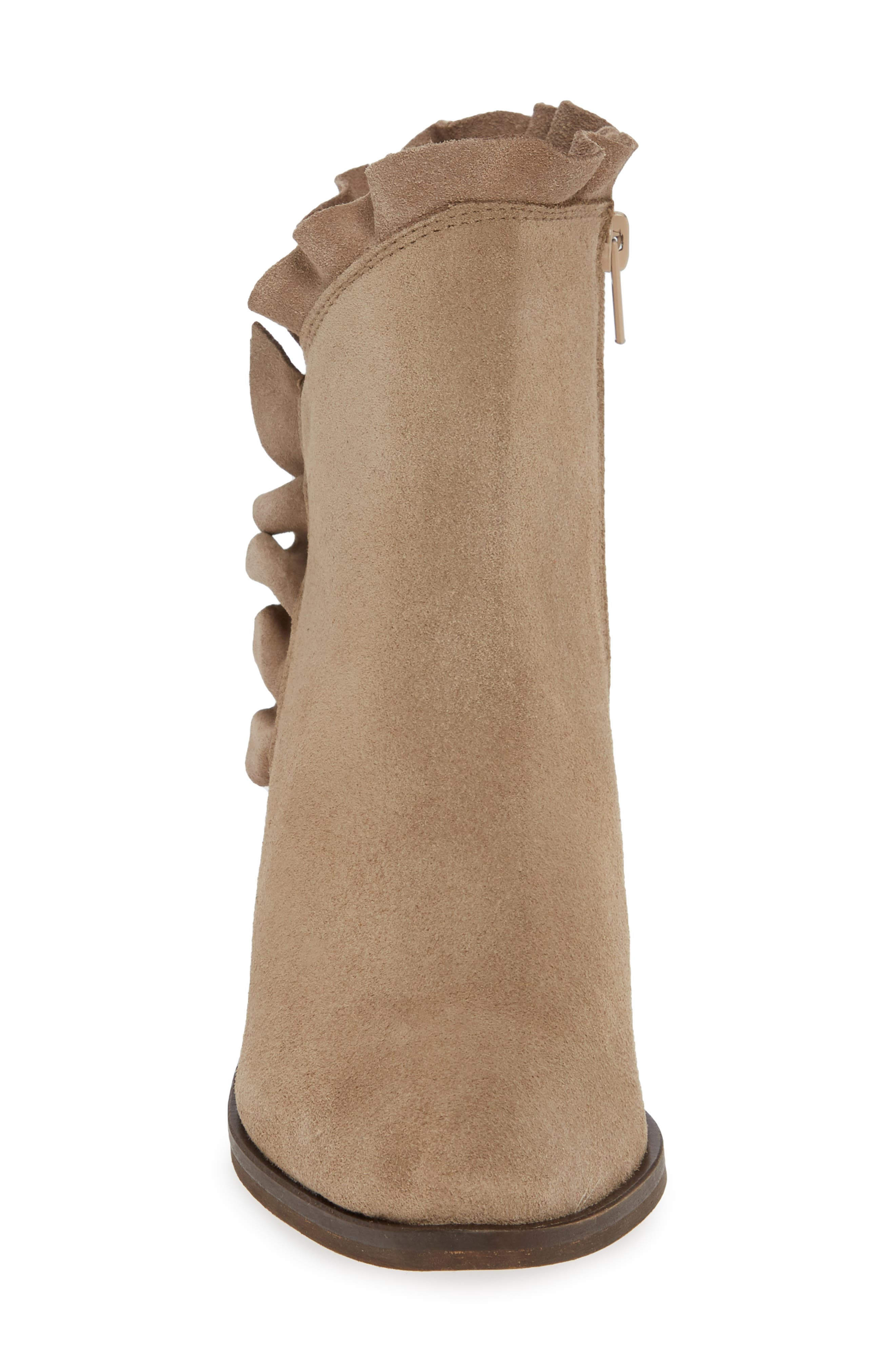 Bellamy Bootie,                             Alternate thumbnail 4, color,                             TAUPE SUEDE