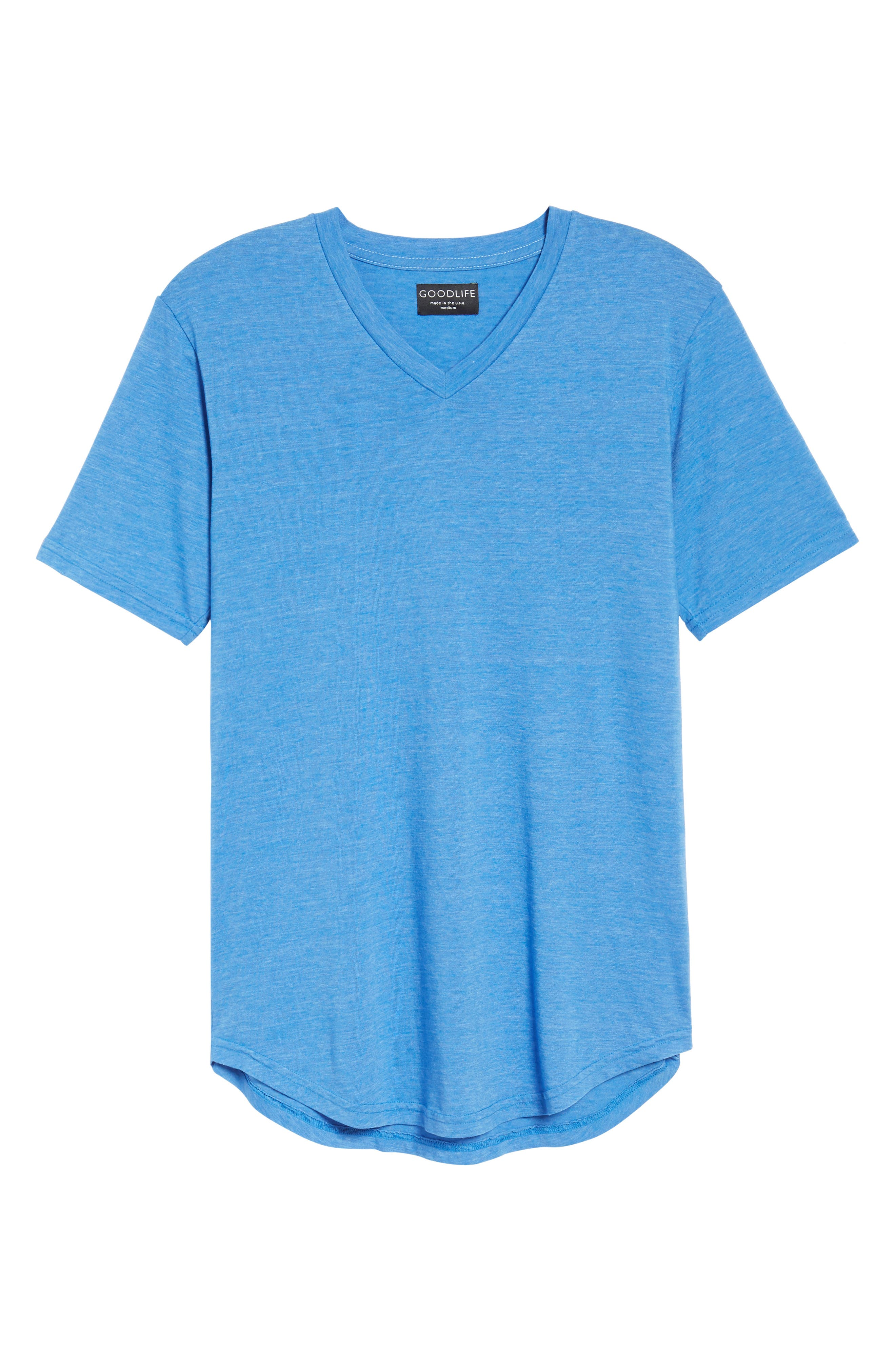 Scallop Triblend V-Neck T-Shirt,                             Alternate thumbnail 31, color,