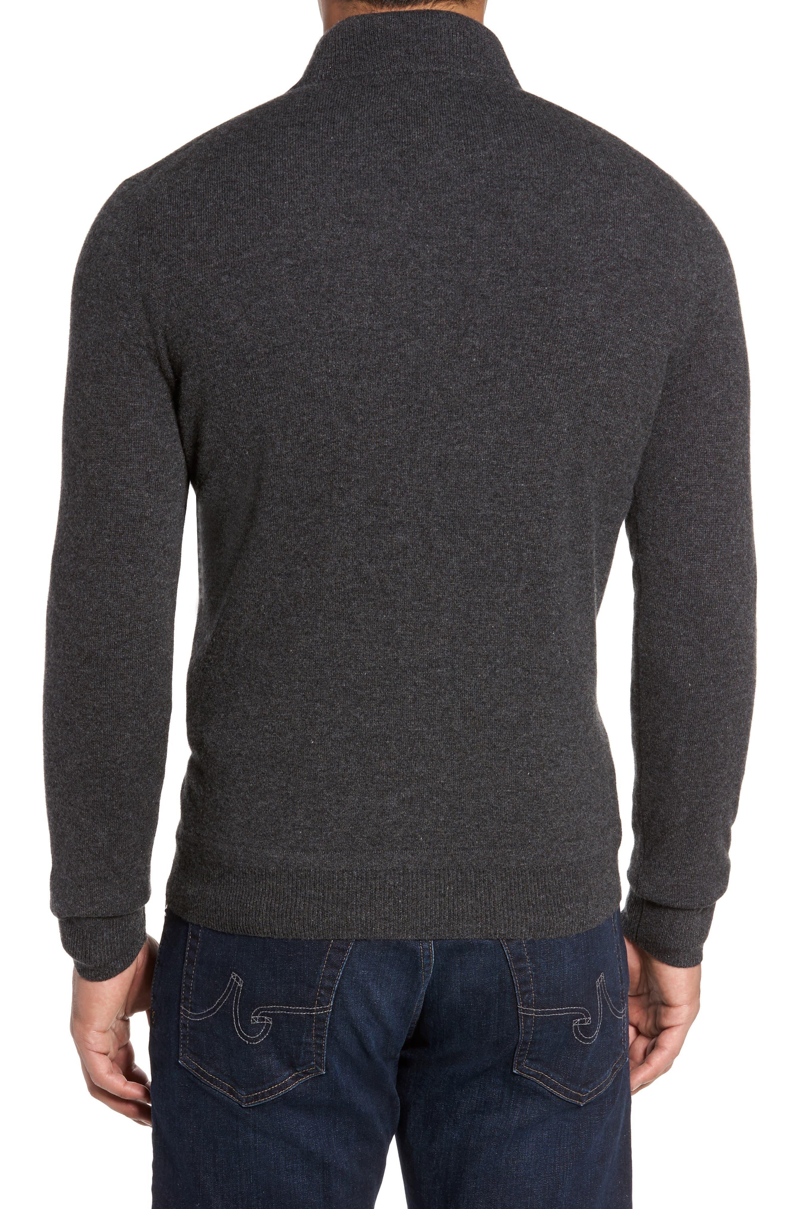 Cashmere Quarter Zip Sweater,                             Alternate thumbnail 8, color,