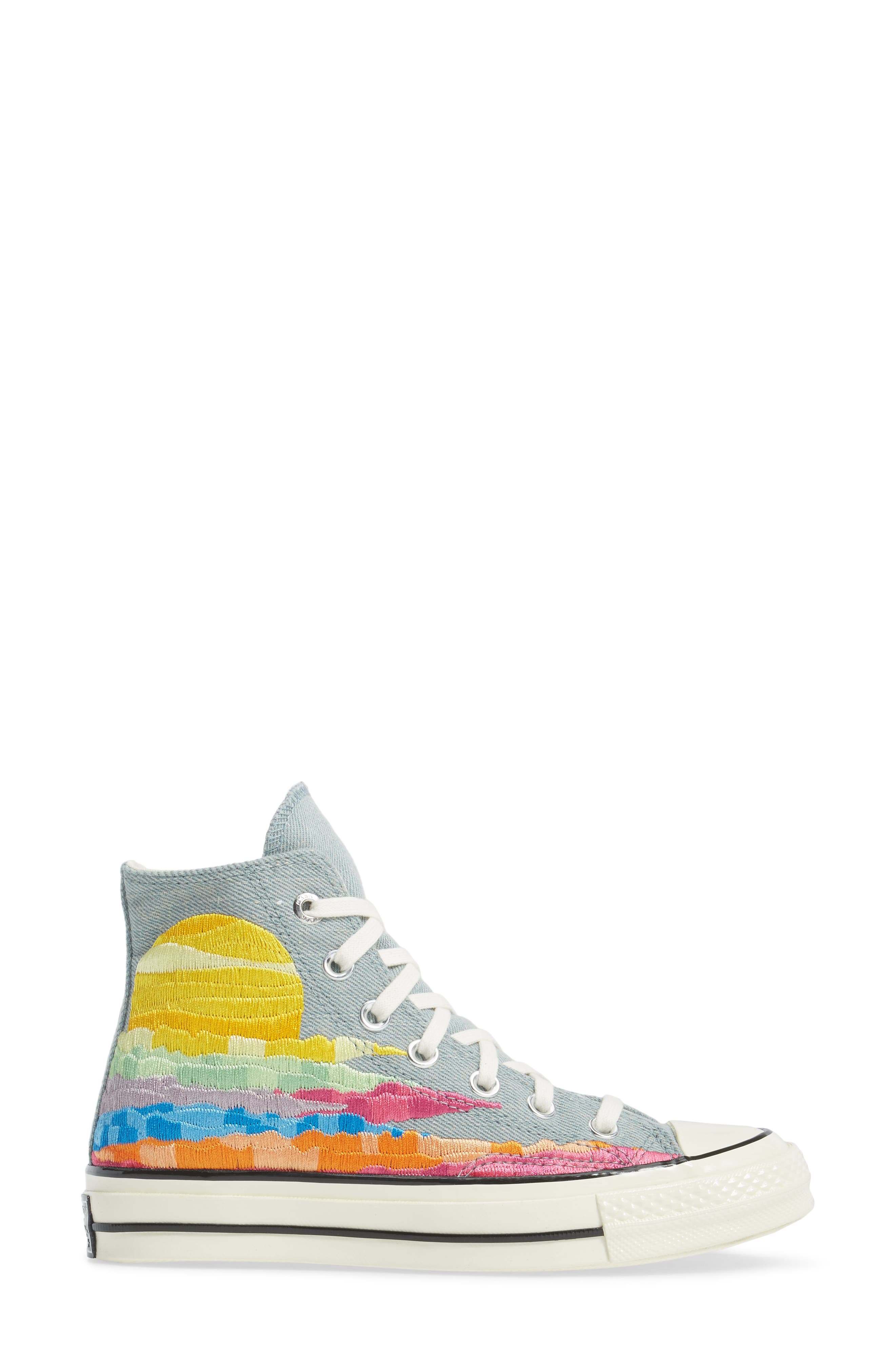 x Mara Hoffman All Star<sup>®</sup> Embroidered High Top Sneaker,                             Alternate thumbnail 6, color,