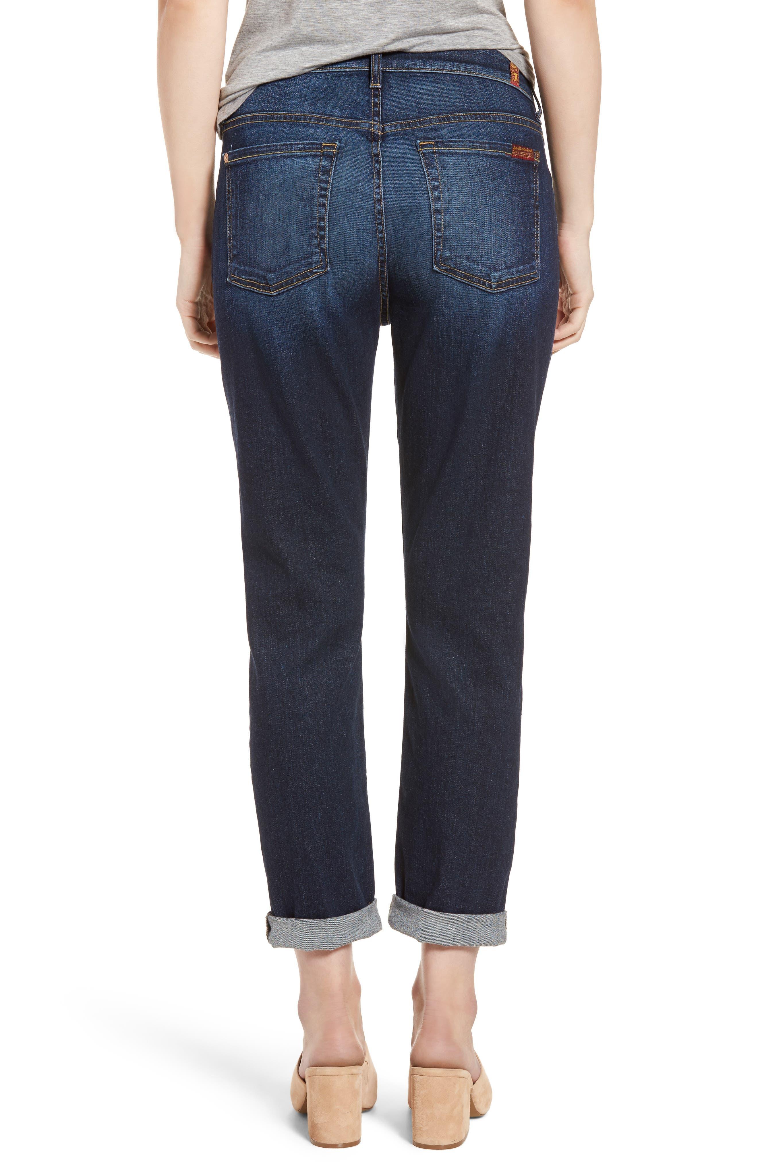 Josefina High Waist Crop Boyfriend Jeans,                             Alternate thumbnail 4, color,