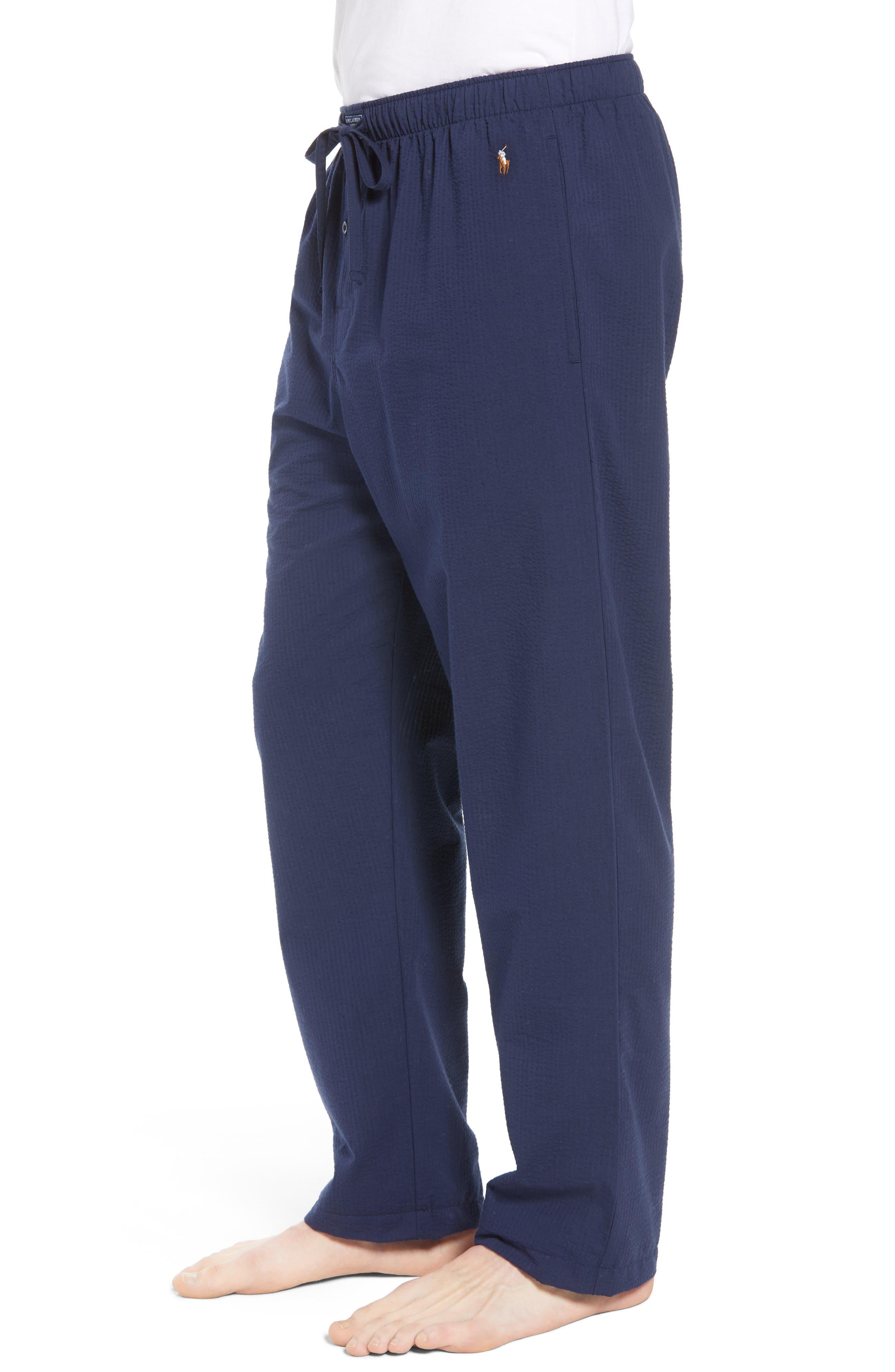 Seersucker Pajama Pants,                             Alternate thumbnail 3, color,                             NAVY SEERSUCKER