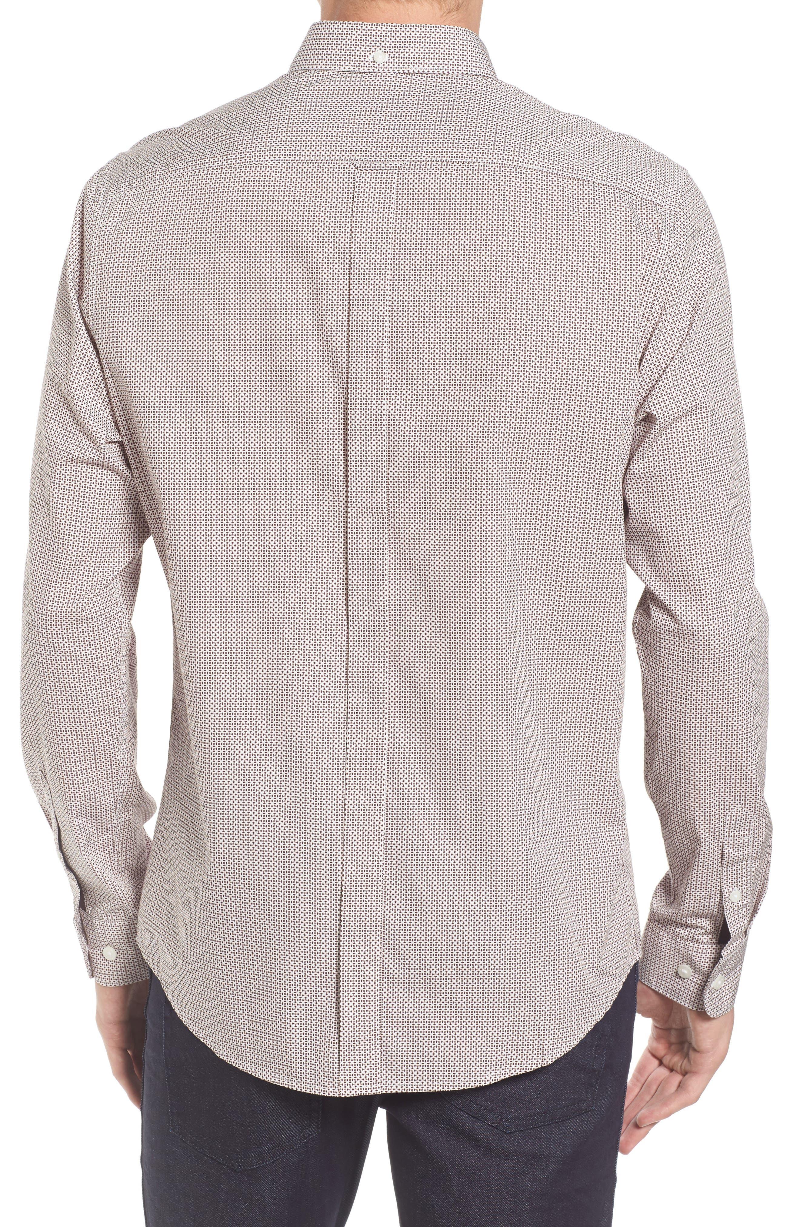 Micro Diamond Print Sport Shirt,                             Alternate thumbnail 2, color,                             101
