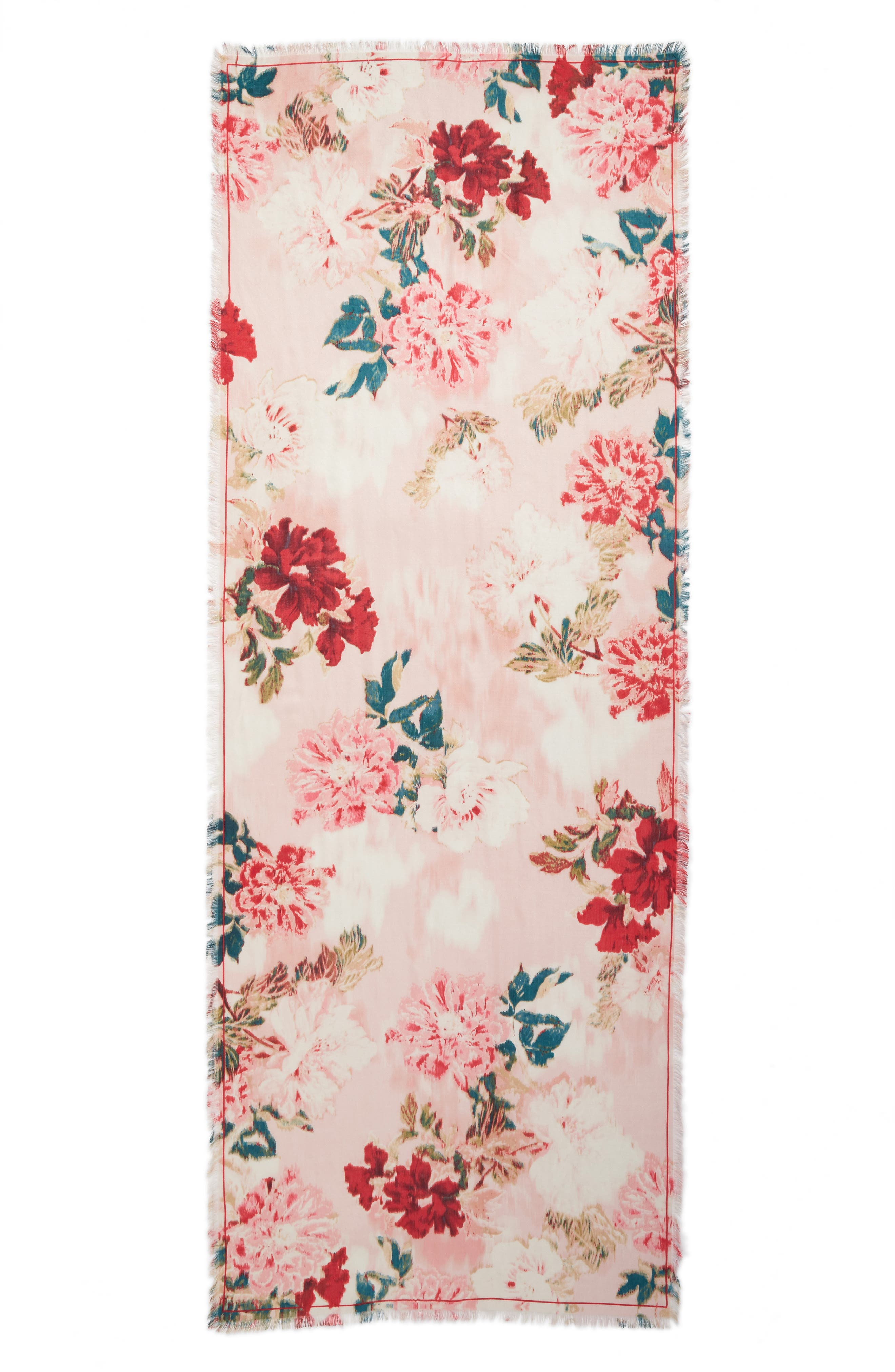 Eyelash Trim Print Cashmere & Silk Wrap,                             Alternate thumbnail 90, color,